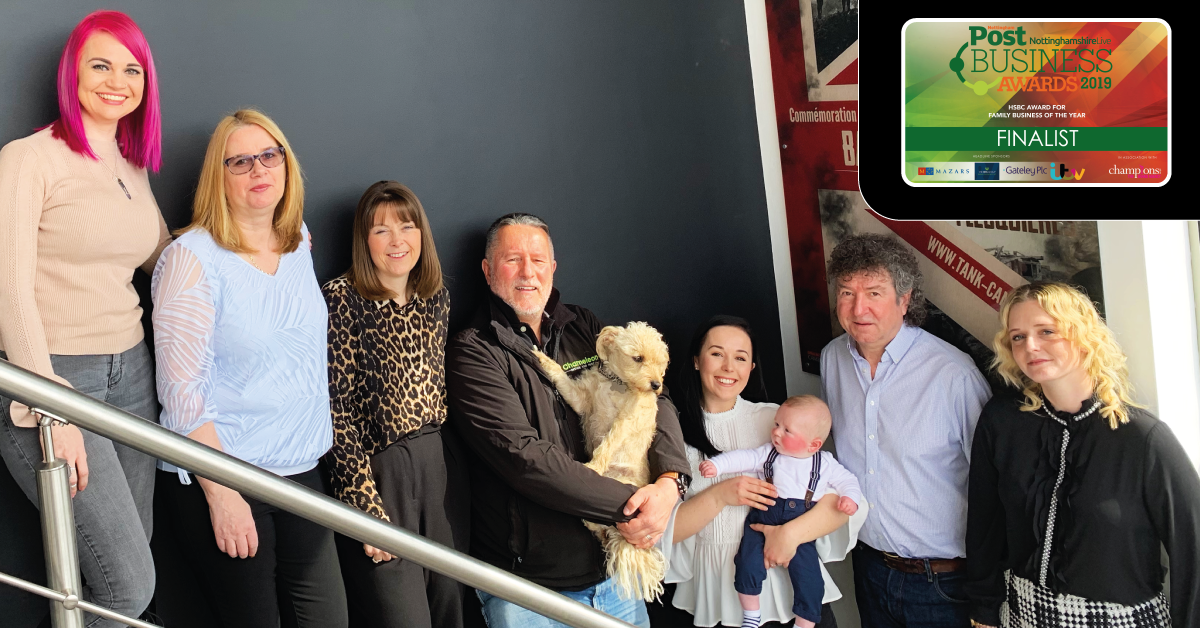 Our 2019 Chameleon Team - From Left to Right: Kelli, Jill, Tracey, Mike, Phoebe (Dog), Lucie, Freddie (New Addition), Nigel and Suzanne.