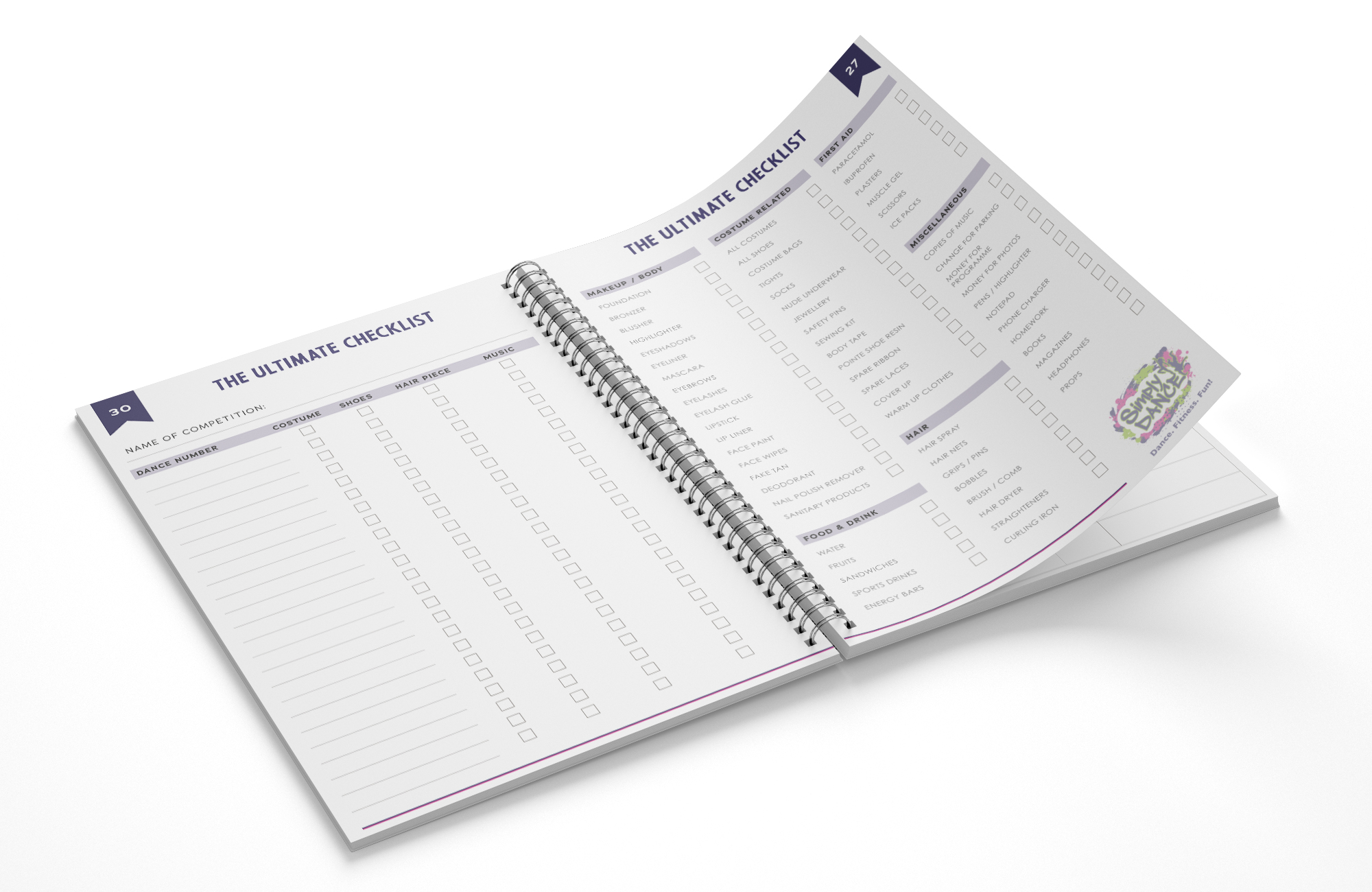 The Ultimate Checklist - Dance Journal