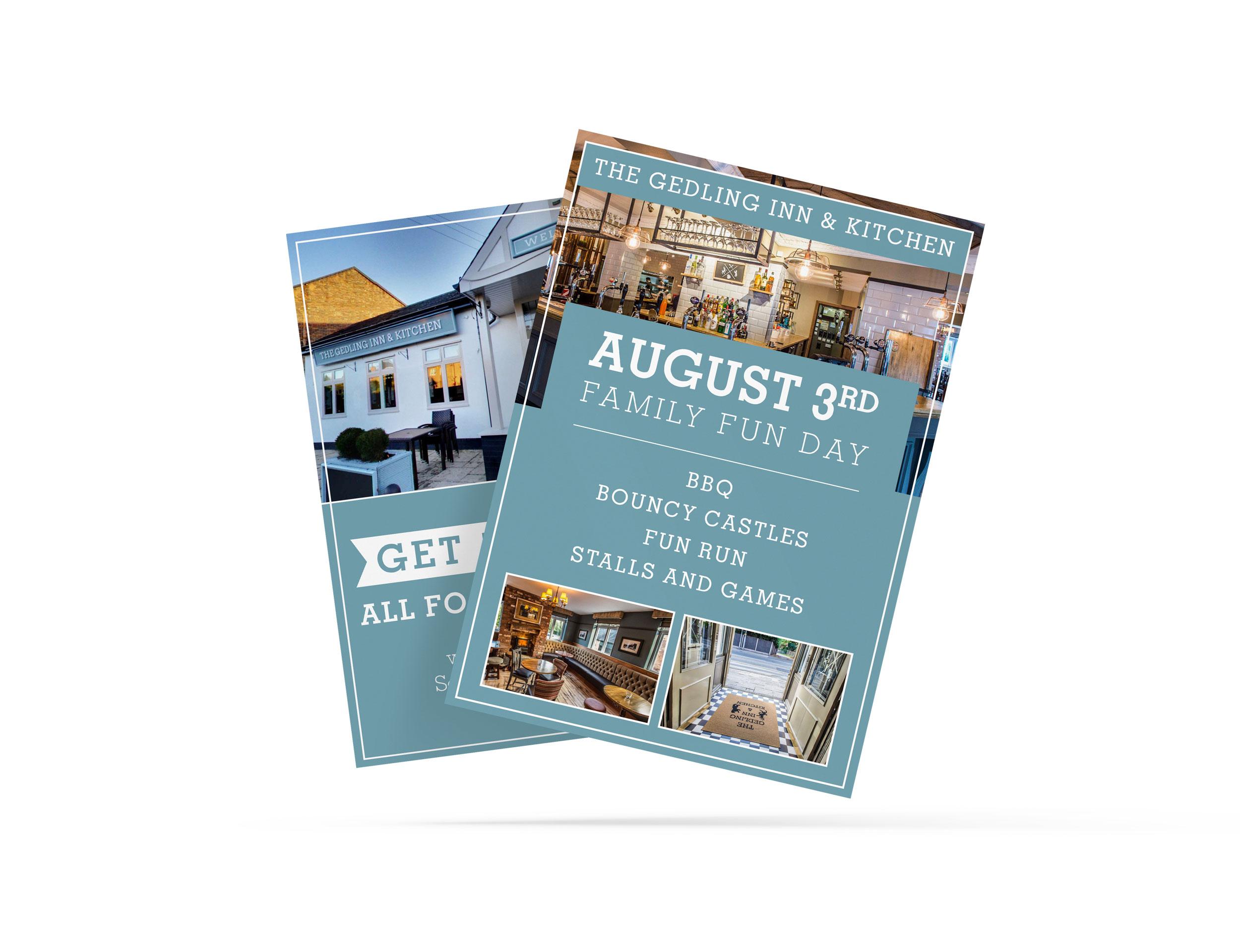 The Gedling Inn Flyer Design and Print