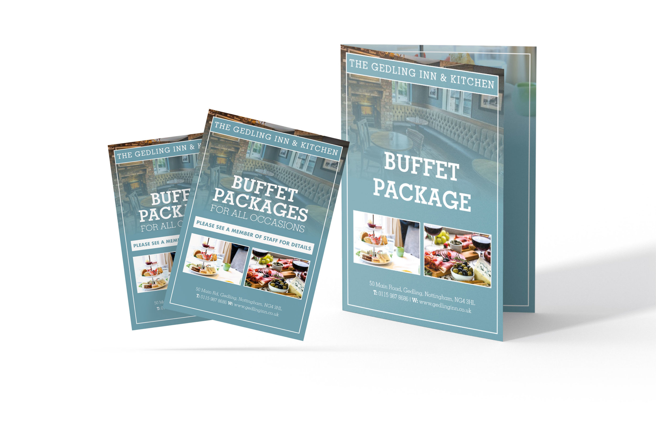 The Gedling Inn Buffet Package - Design and Print