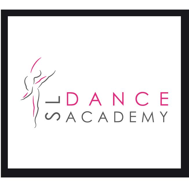 Pink and Grey SL Dance Academy Logo Design