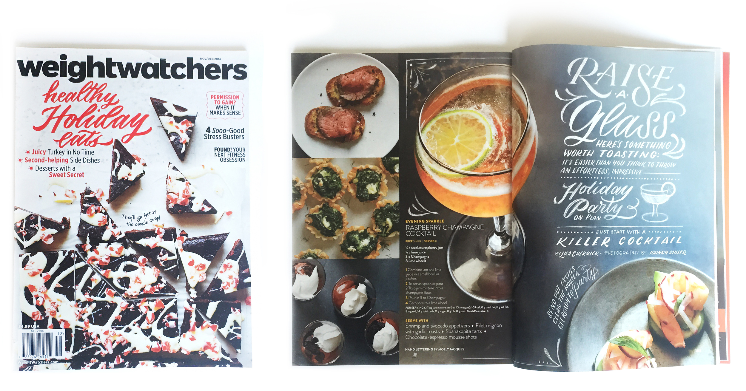 Molly Jacques for Weight Watchers Magazine