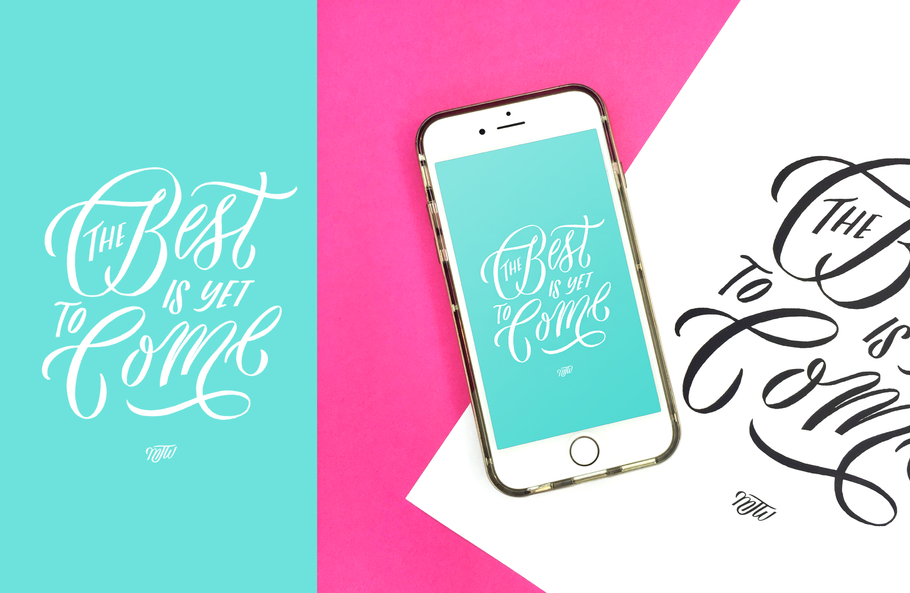 #MollyJacques hand lettered iPhone background