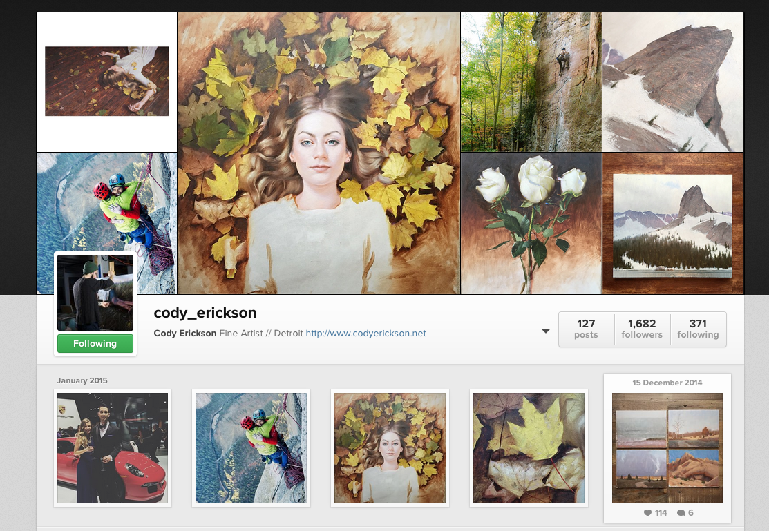 @cody_erickson via Instagram