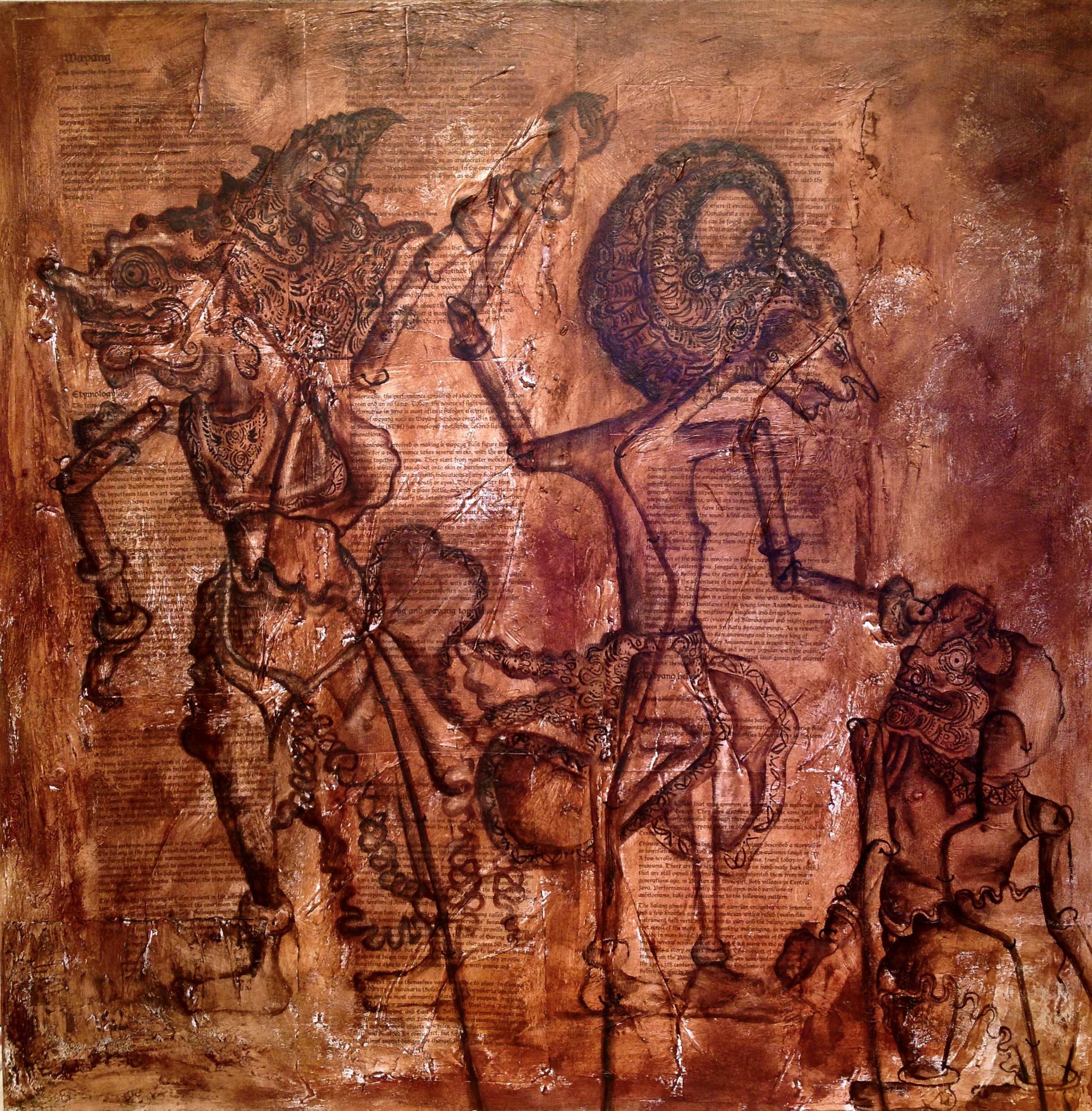 Wayang Kulit, 2014   Mixed Media on canvas