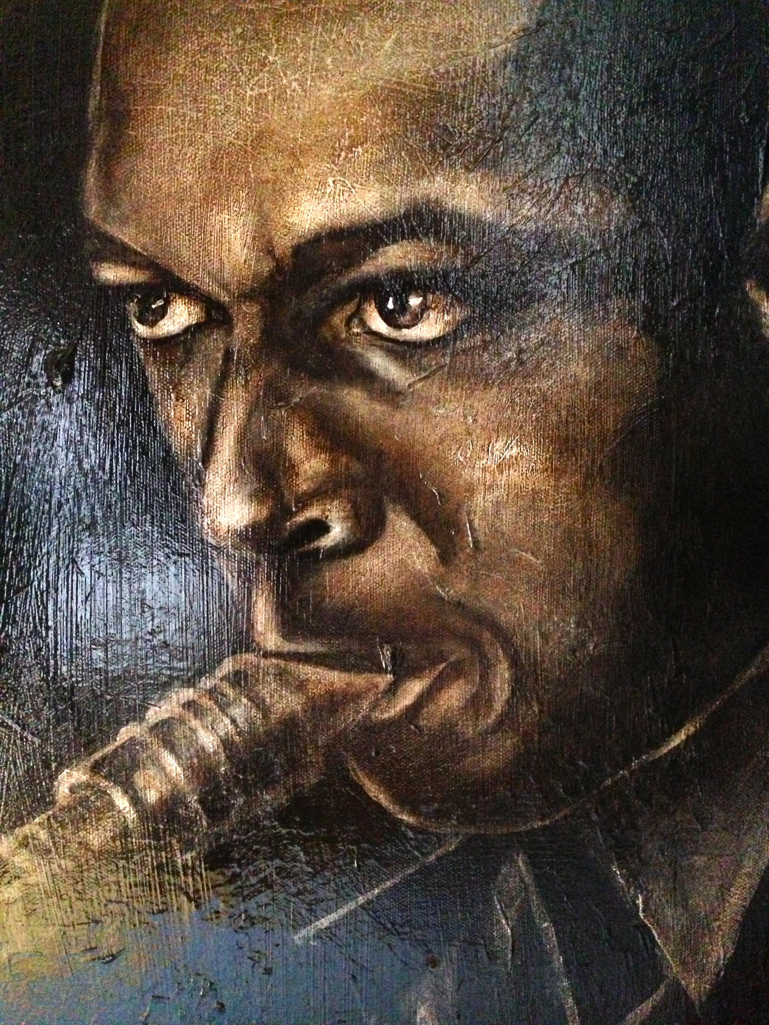 John Coltrane, 2014   Acrylic & oil on canvas