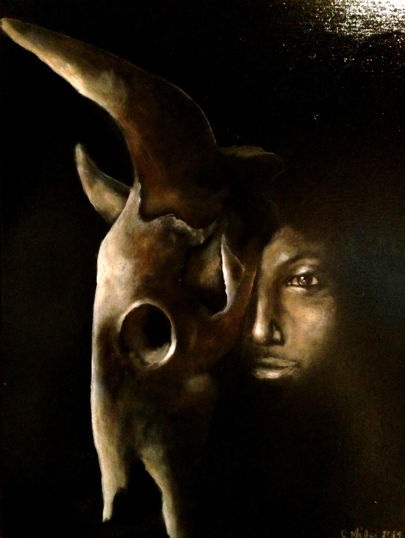 Stato Intermedio, 2014  Acrylic & Oil on canvas