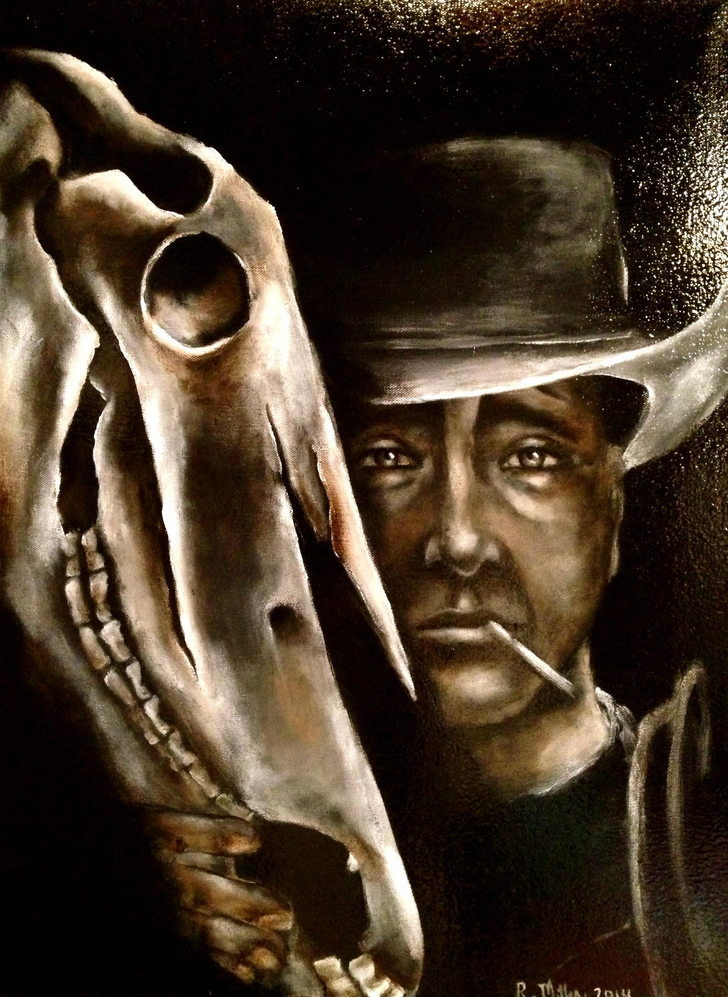 Cavallo Spirito, 2014  Acrylic & oil on canvas