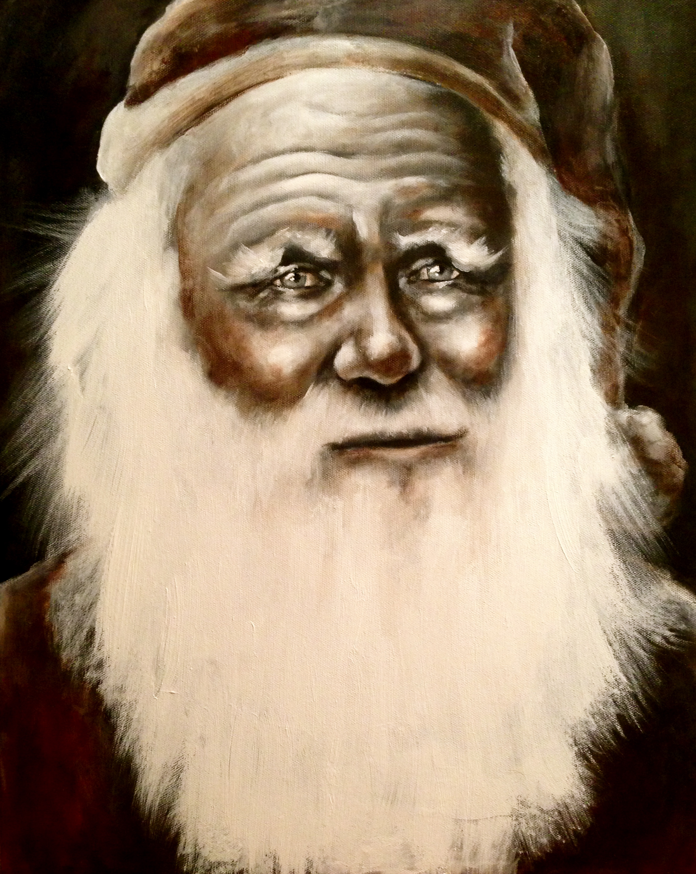 Old Fashioned Kris Kringle, 2014  Acrylic & oil on canvas  Happy Holidays!