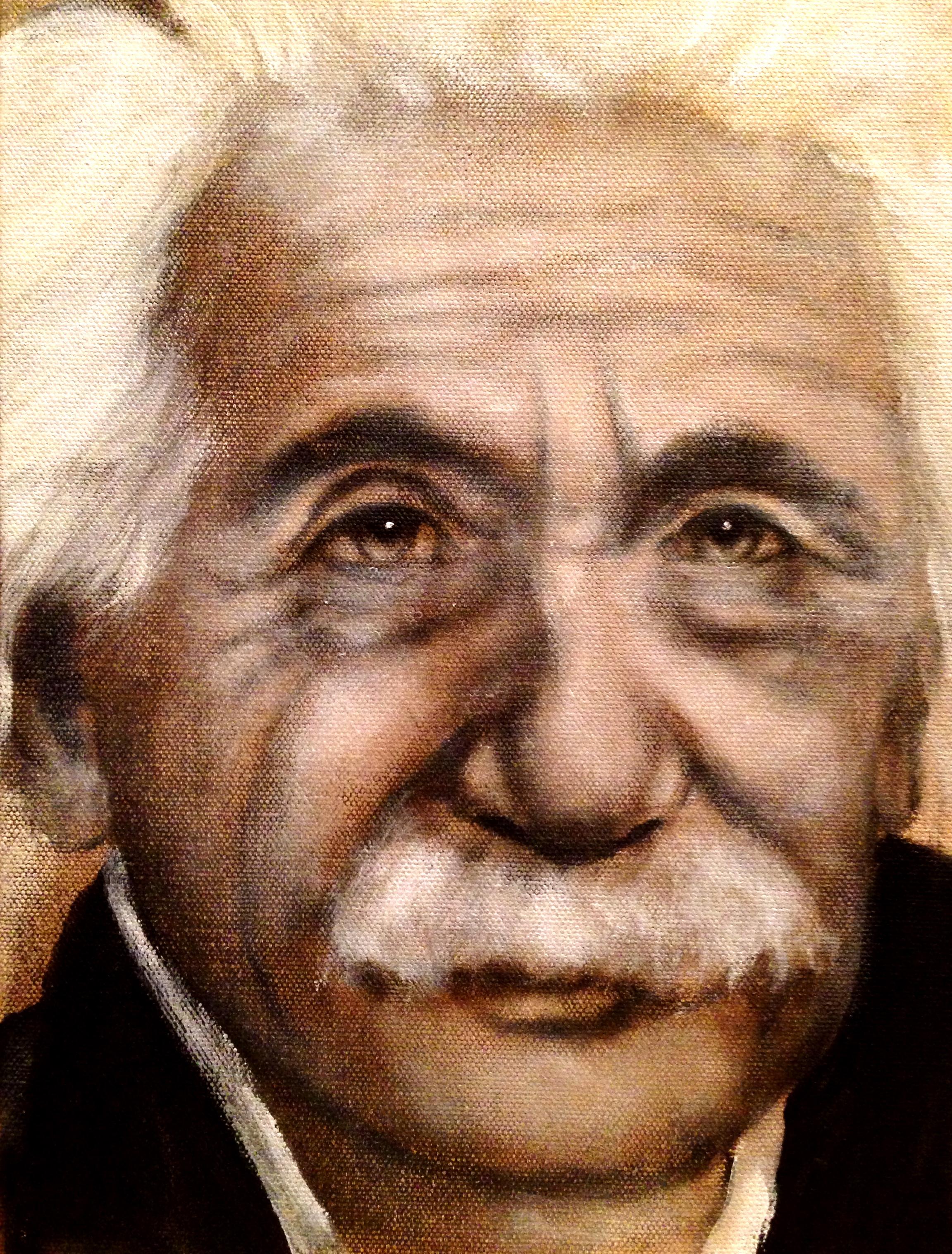 Albert Einstein, 2015   Acrylic & oil on canvas