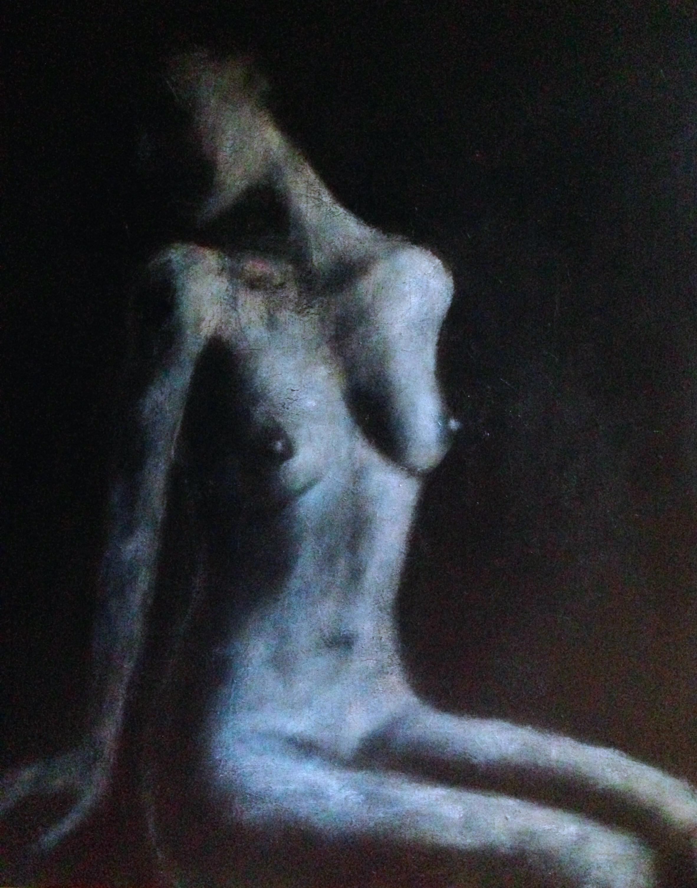 Blue Nude 4'x5', 2015   Acrylic & oil on canvas