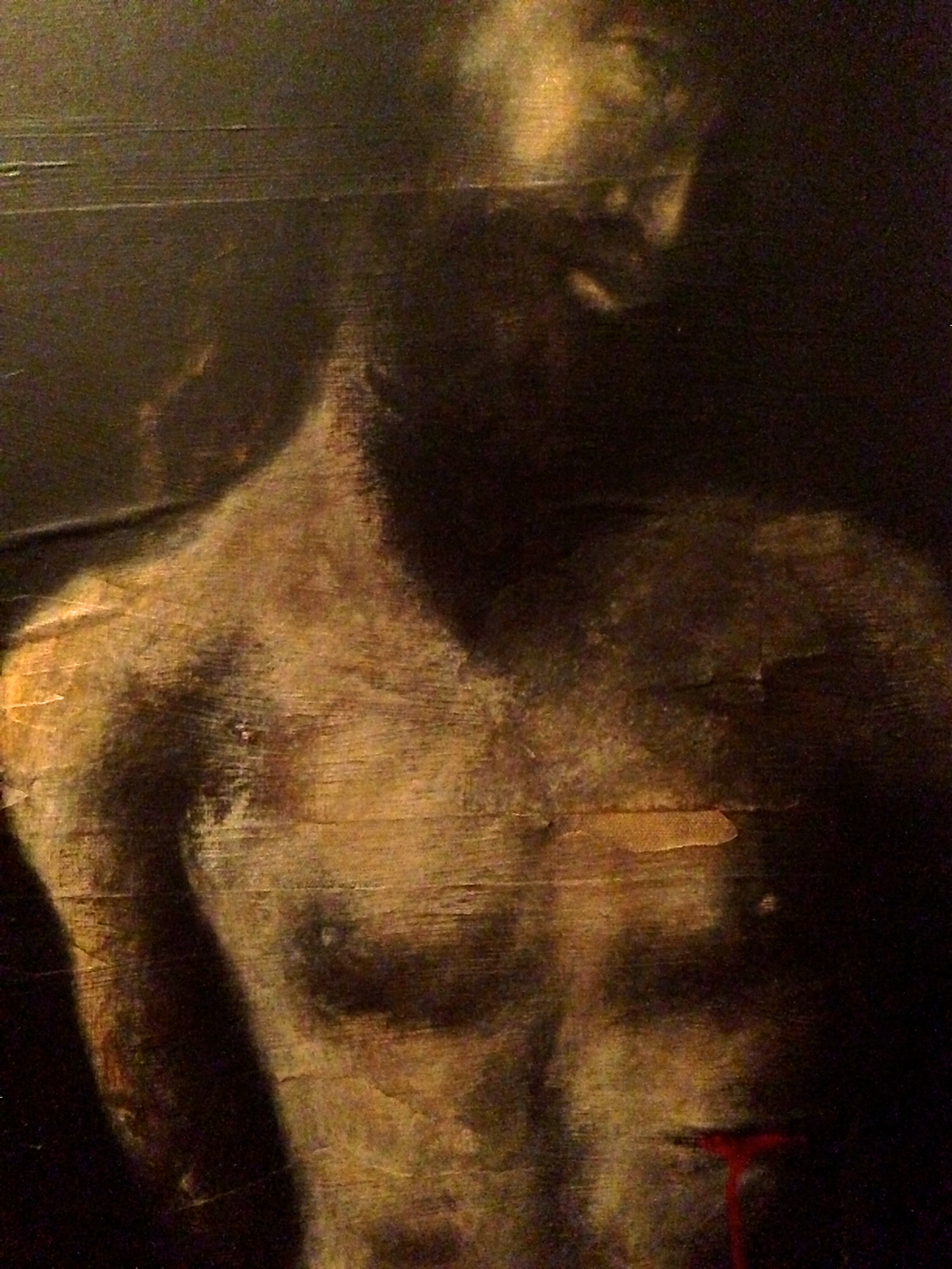 (close up) Jesus, 2015   Mixed Media on canvas