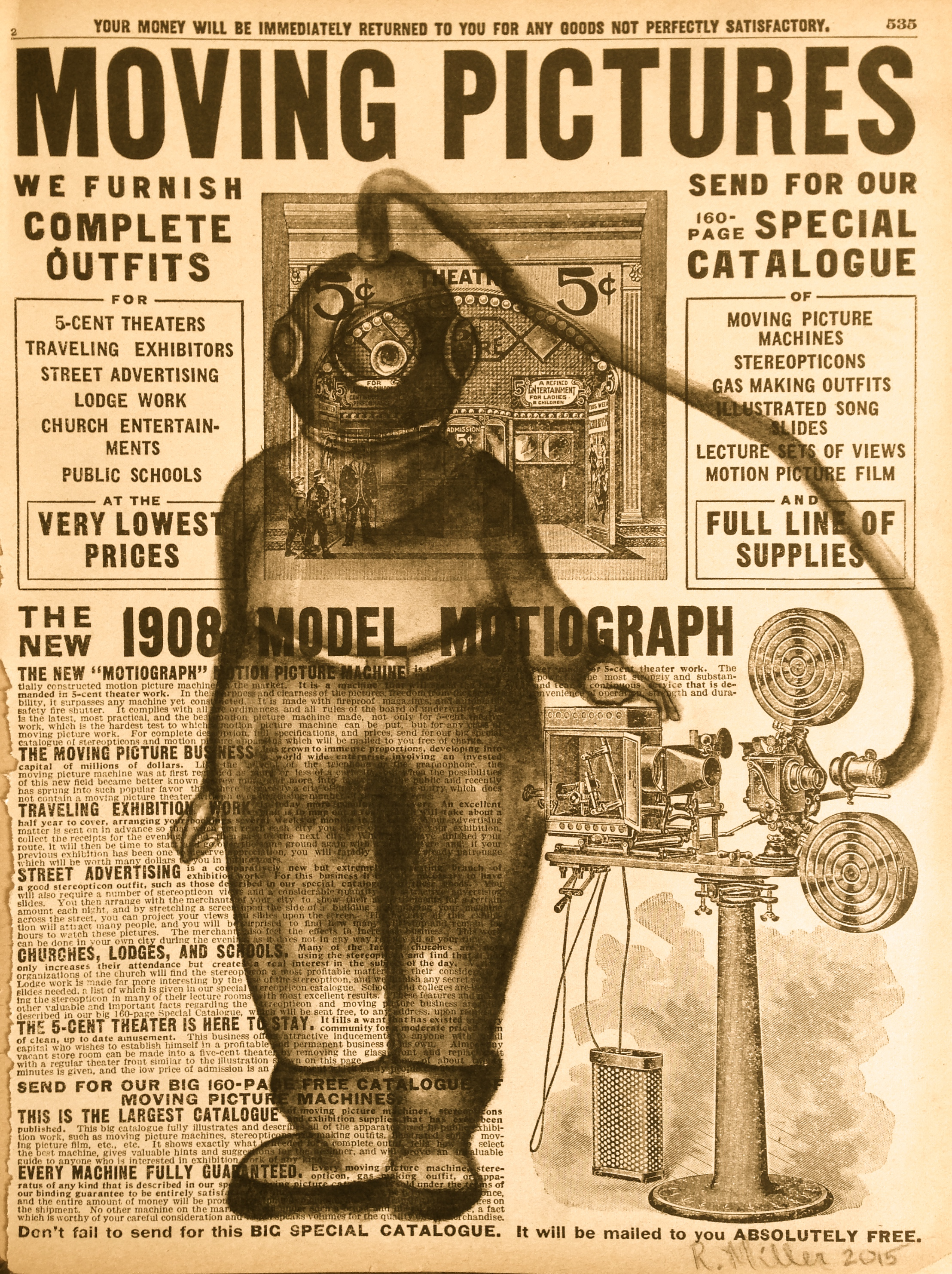 Outfitted2015   Charcoal on antique catalog