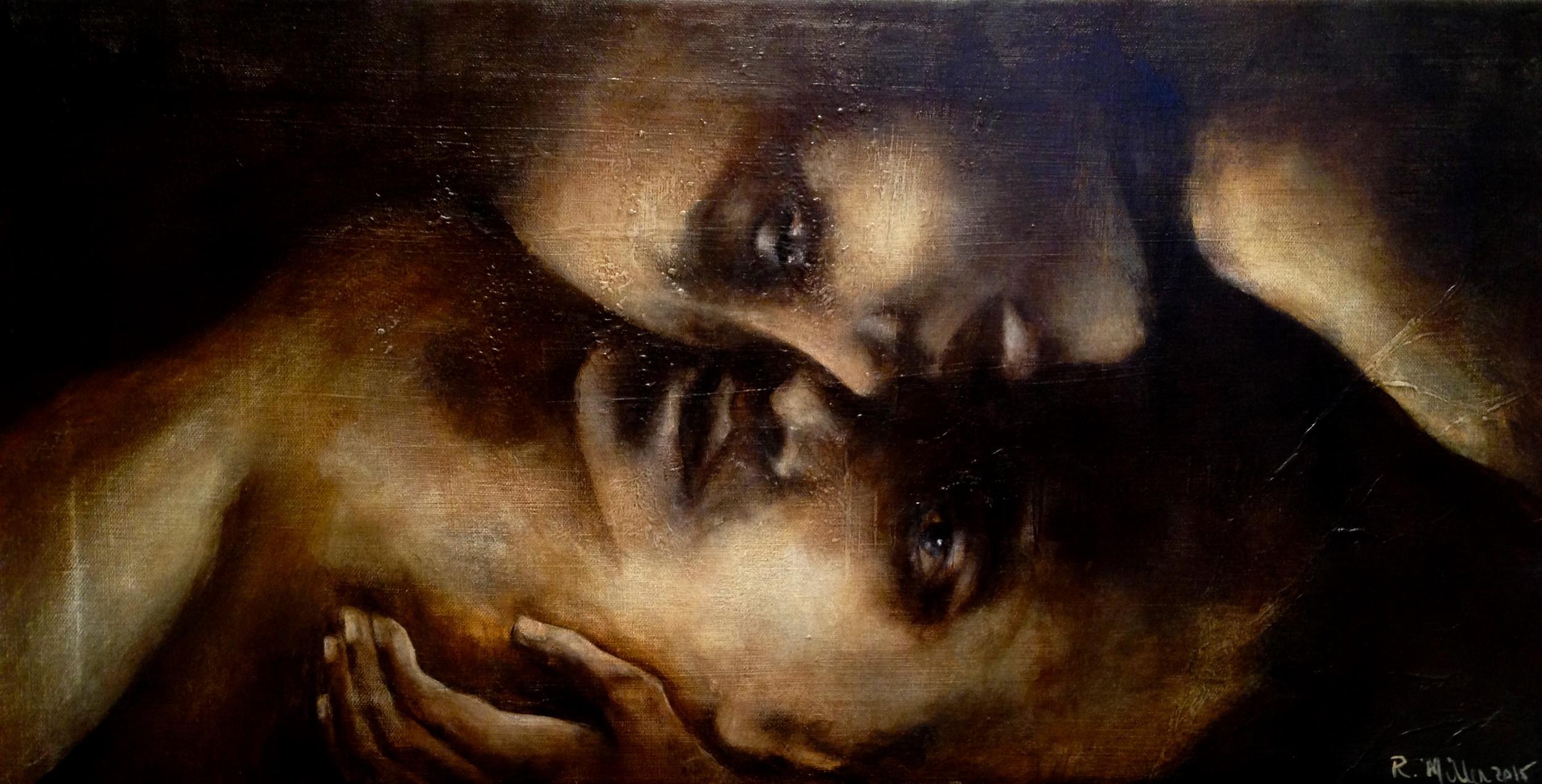 Gli Amanti, 2015   Acrylic & oil on canvas