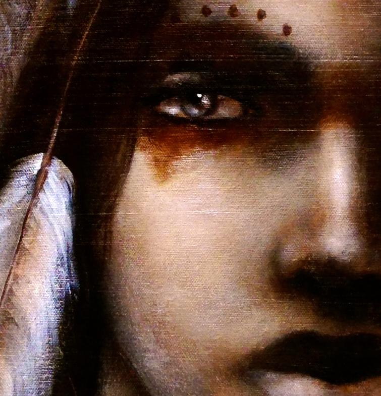 (closeup) Tse-Che-Nako, 2015   Acrylic & oil on canvas