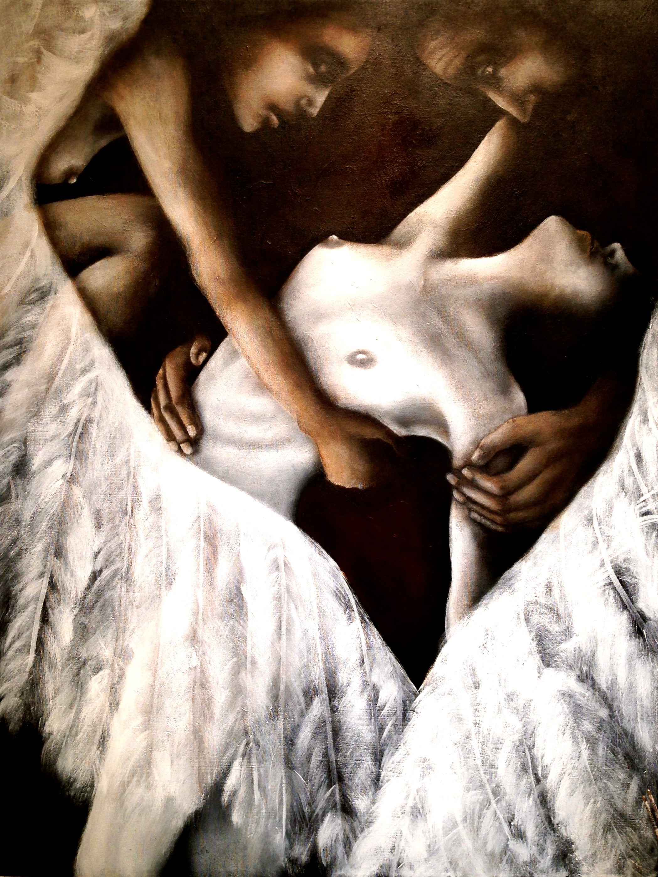 "Le Ballet Transcendantale, ""Transcendental Ballet"" 2015  Acrylic and oil on canvas, 36""x48"""