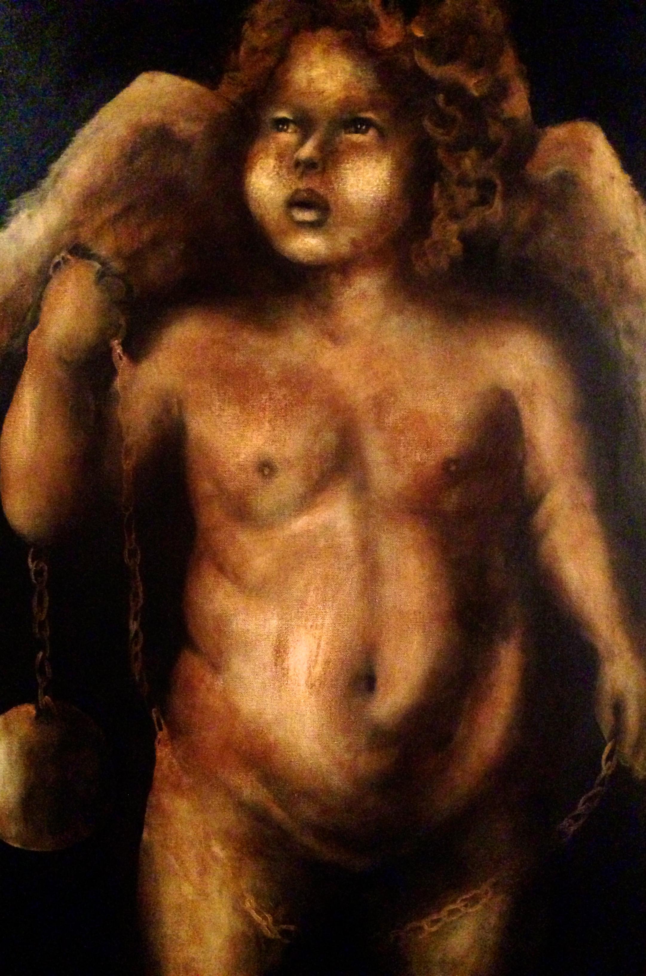 Cupid's Ball & Chain, 2015   Acrylic & oil on canvas