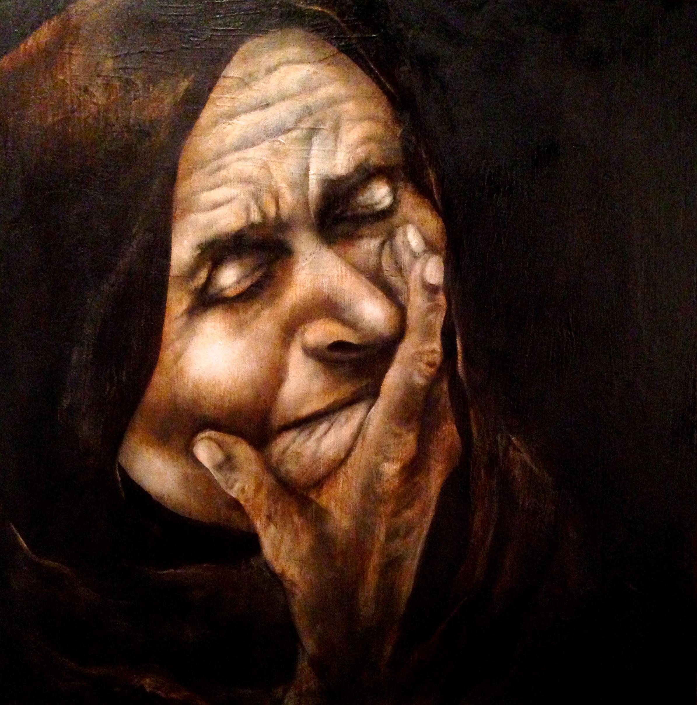 "Esotero, 2016   Acrylic & texture medium on canvas, 24""x24"""