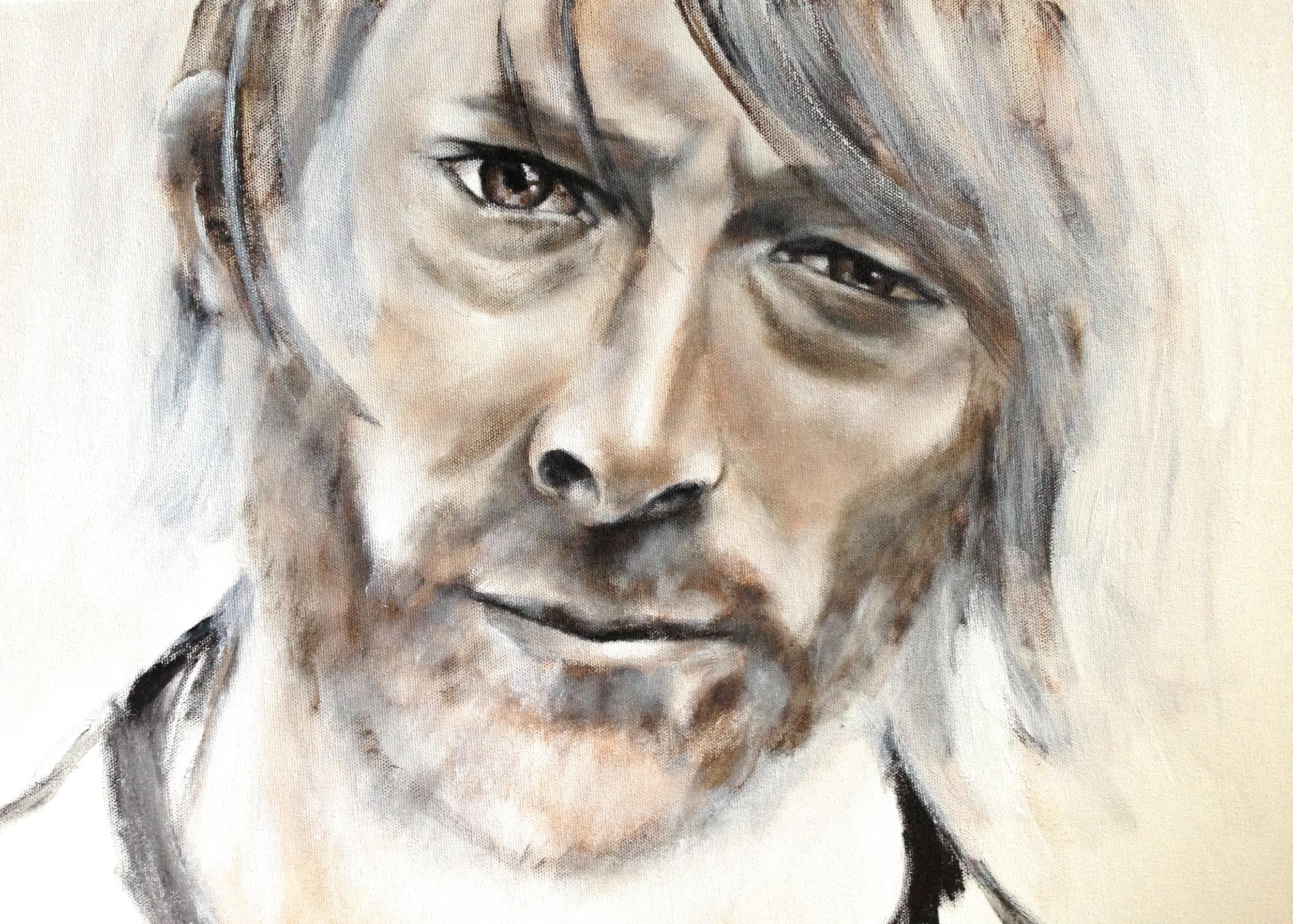 Thom York, never finished, 2015   Acrylic on canvas