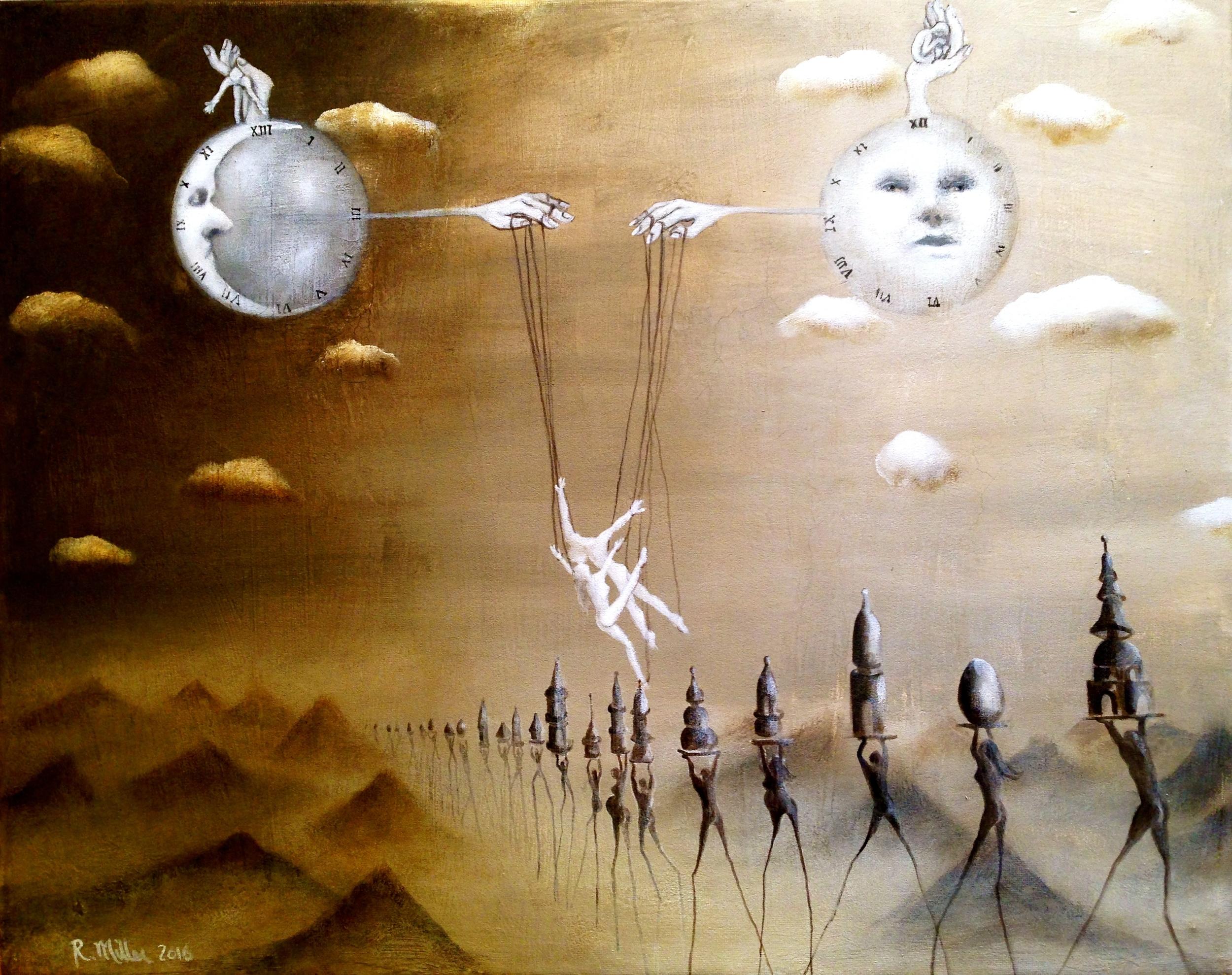 The Illusion, 2016   Acrylic, oil, & texture medium on canvas