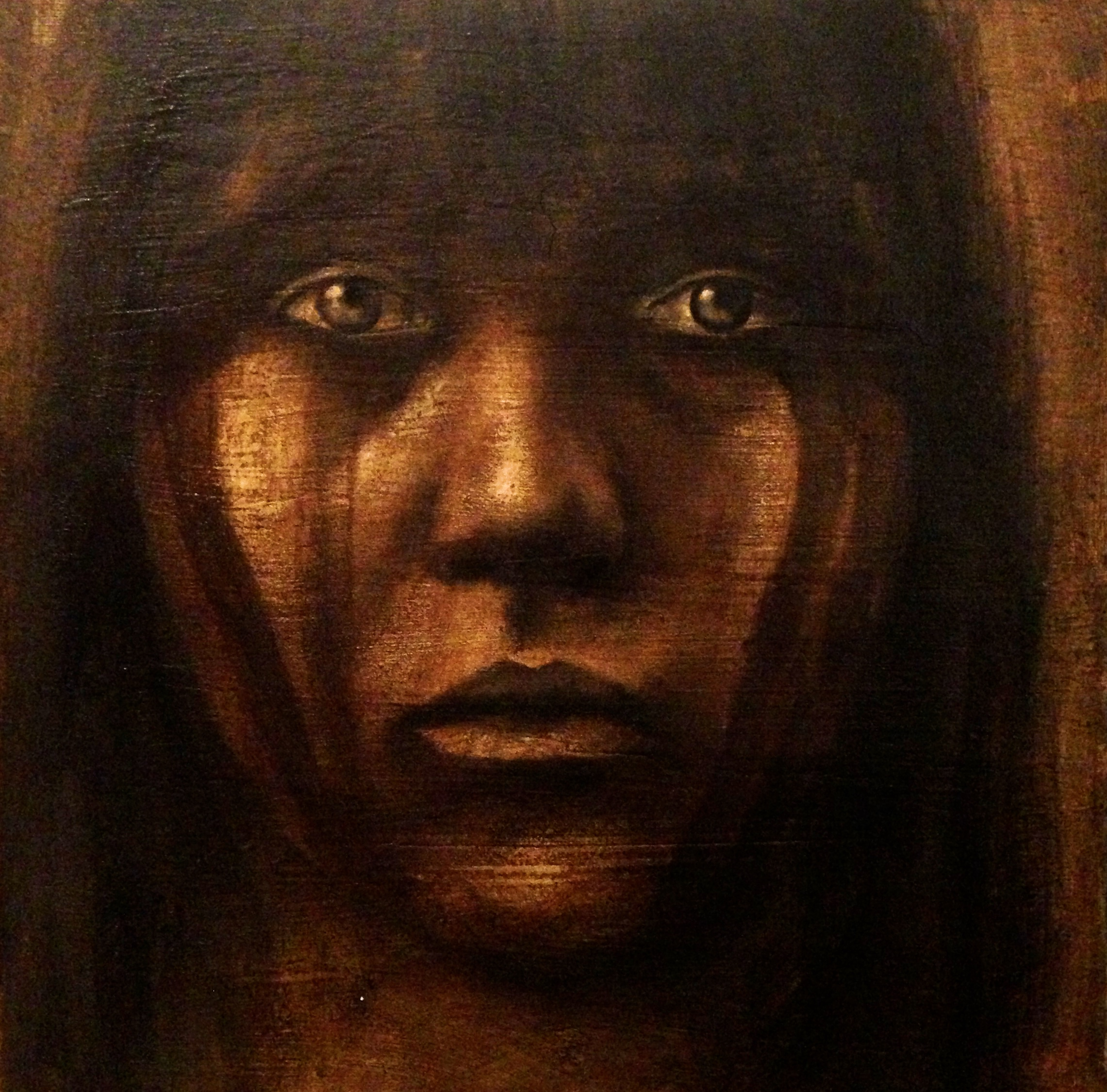 Indigenous Girl, 2016   Acrylic, oil, texture medium on canvas