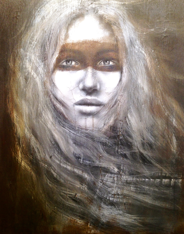 Belisama, 2016   Acrylic, oil, texture medium on canvas