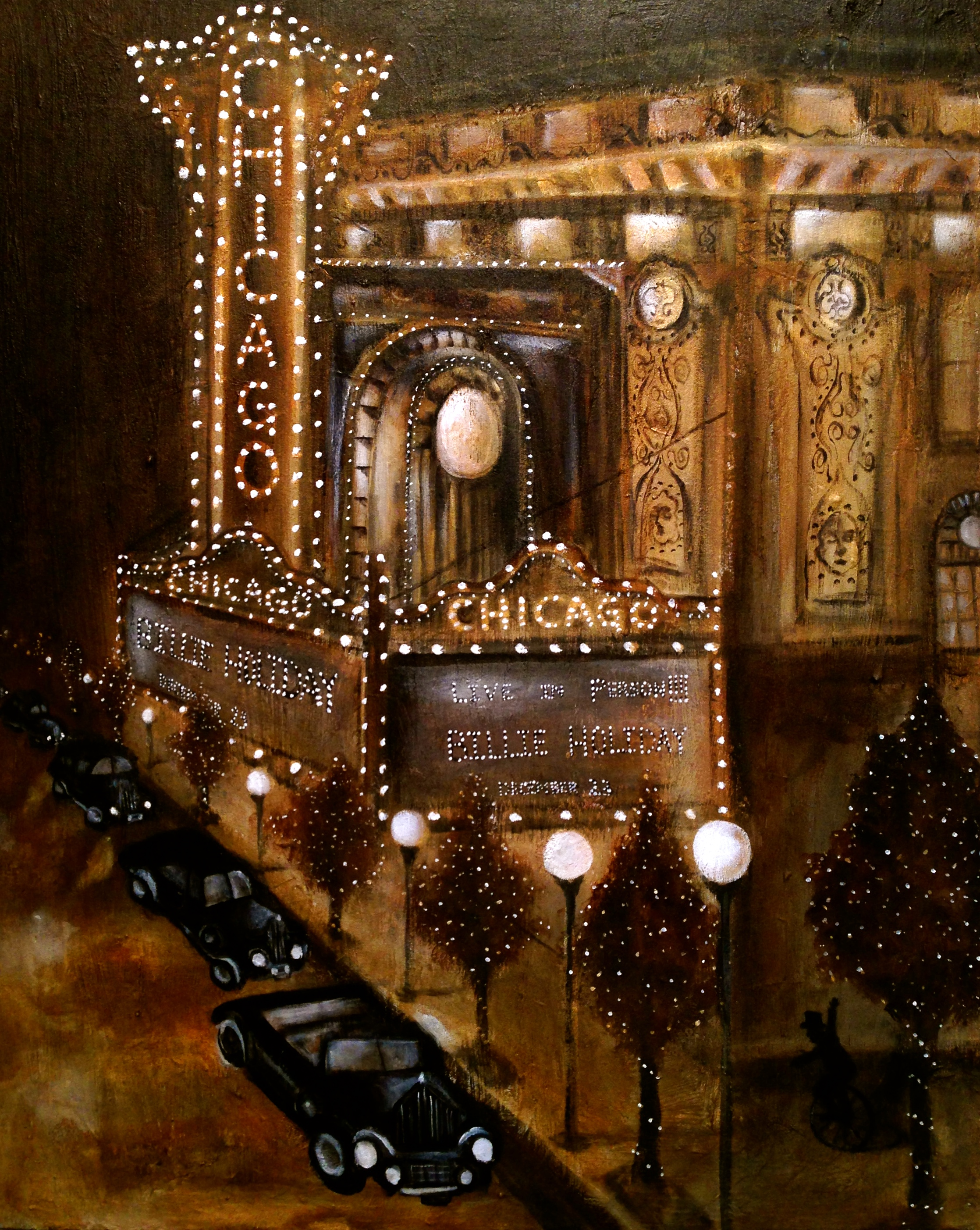Old Chicago, 2016   Acrylic, oil, texture medium on canvas