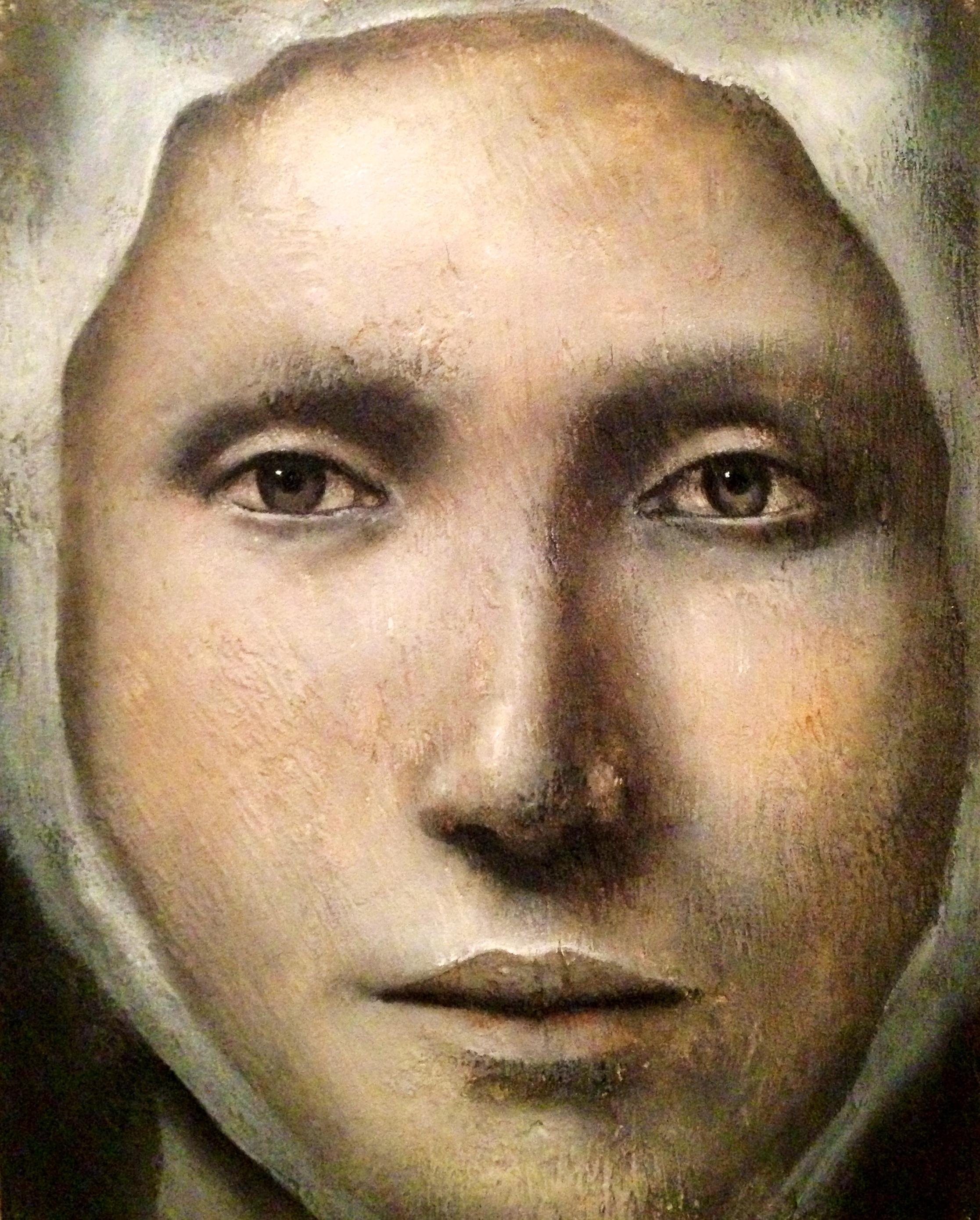 """Adelais, 2016   Acrylic, oil, texture medium on canvas 8""""x10"""""""