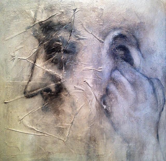 Ear Digger, 2015   Mixed media on canvas