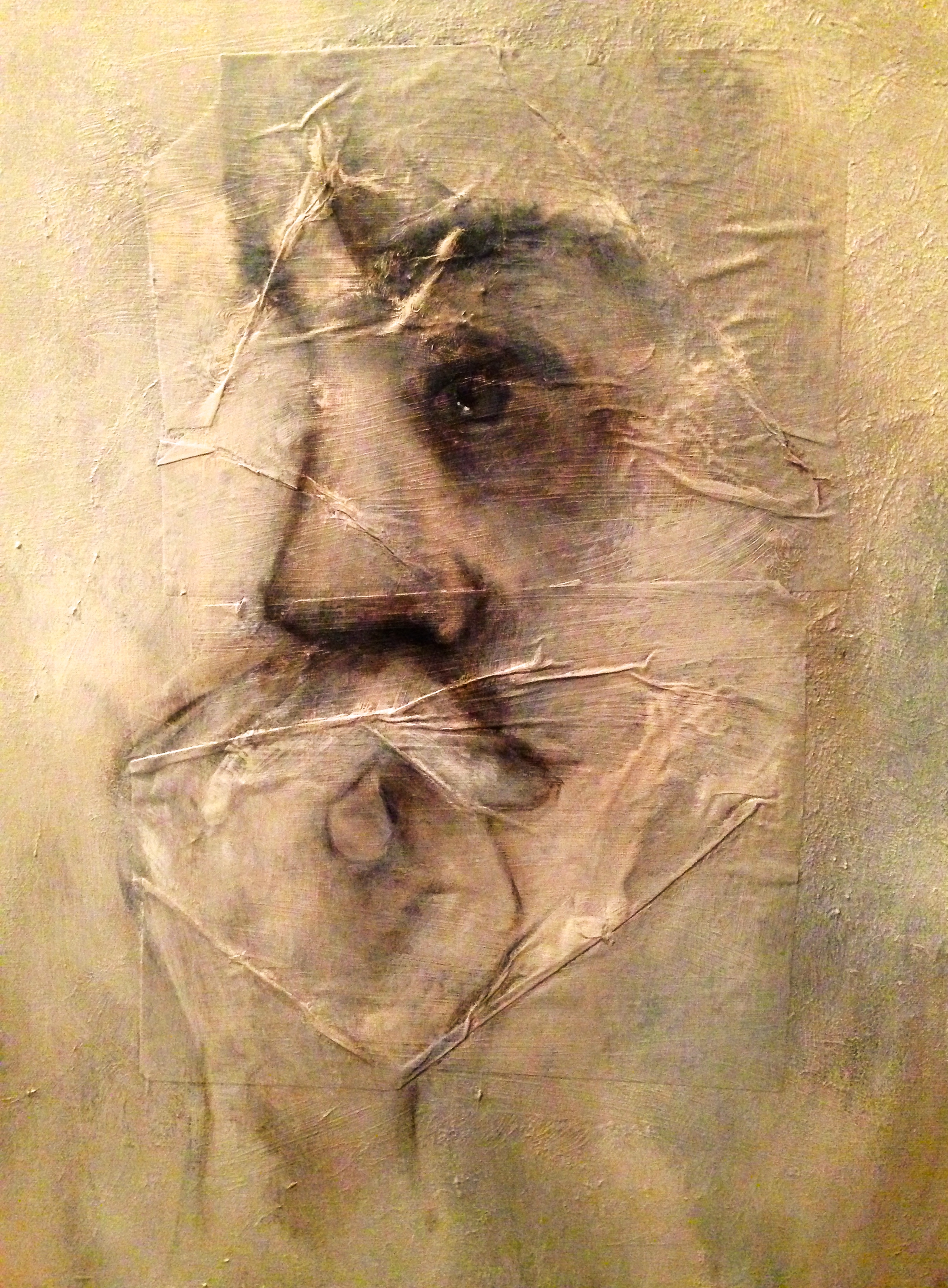 Nail Biter, 2015   Mixed media on canvas