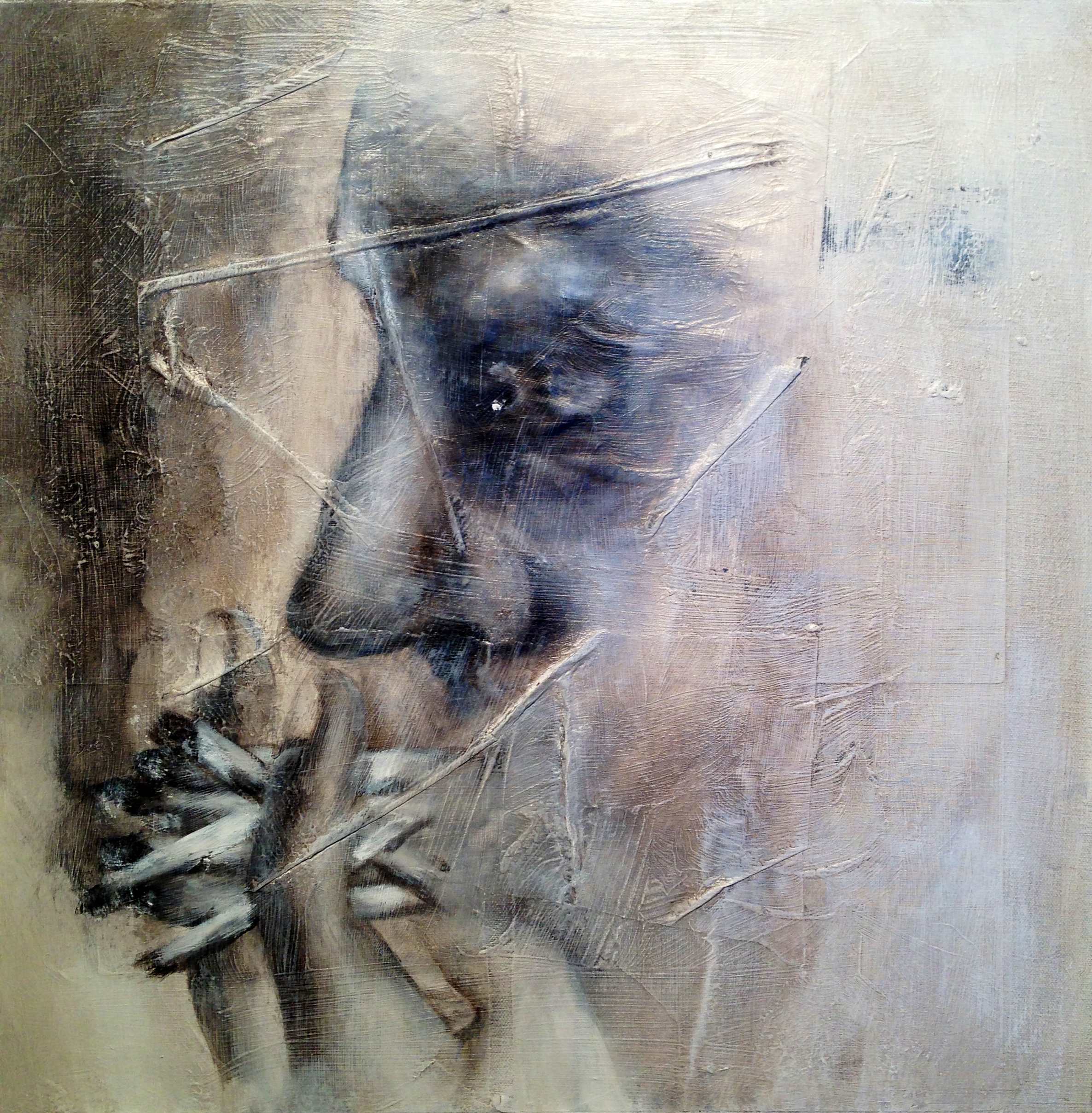 Chain Smoker, 2015   Mixed media on canvas