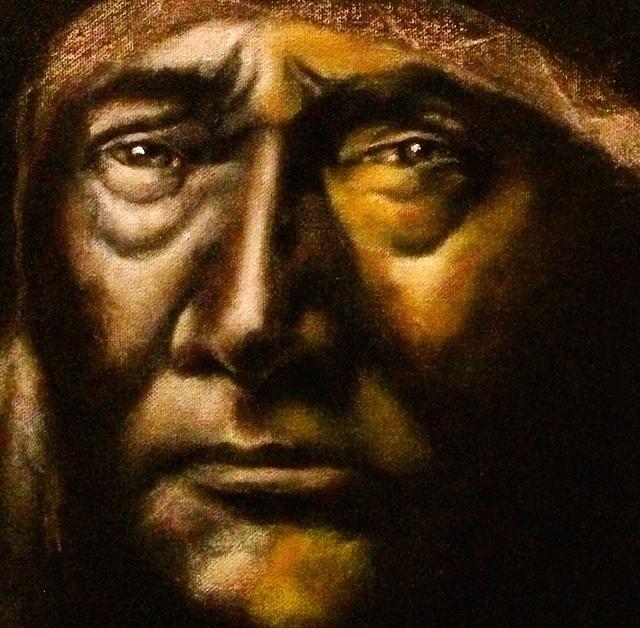 (closeup)Shoshone, 2015   Acrylic & oil on canvas