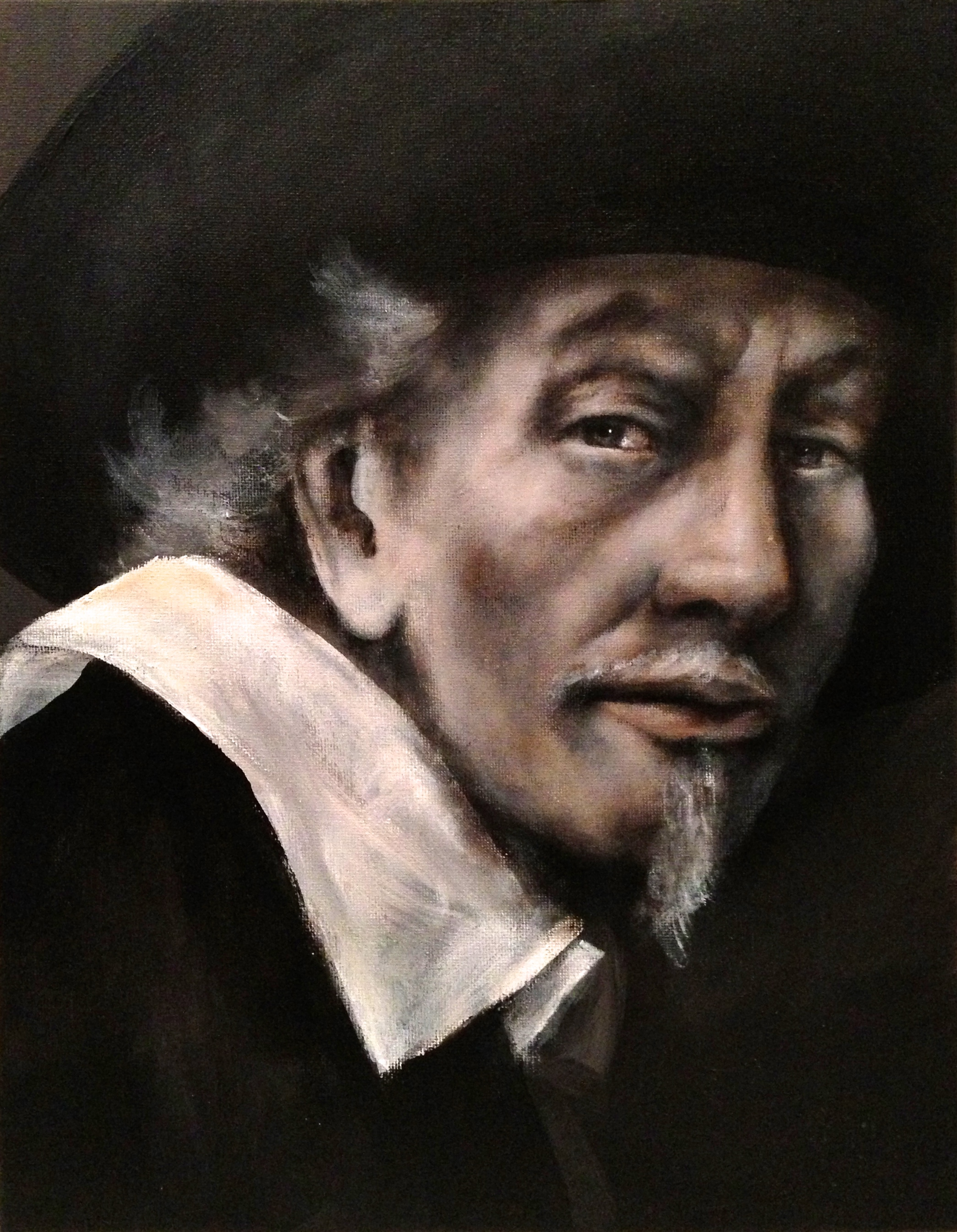 My Rembrandt, 2017 - a personal challenge piece   Acrylic on canvas