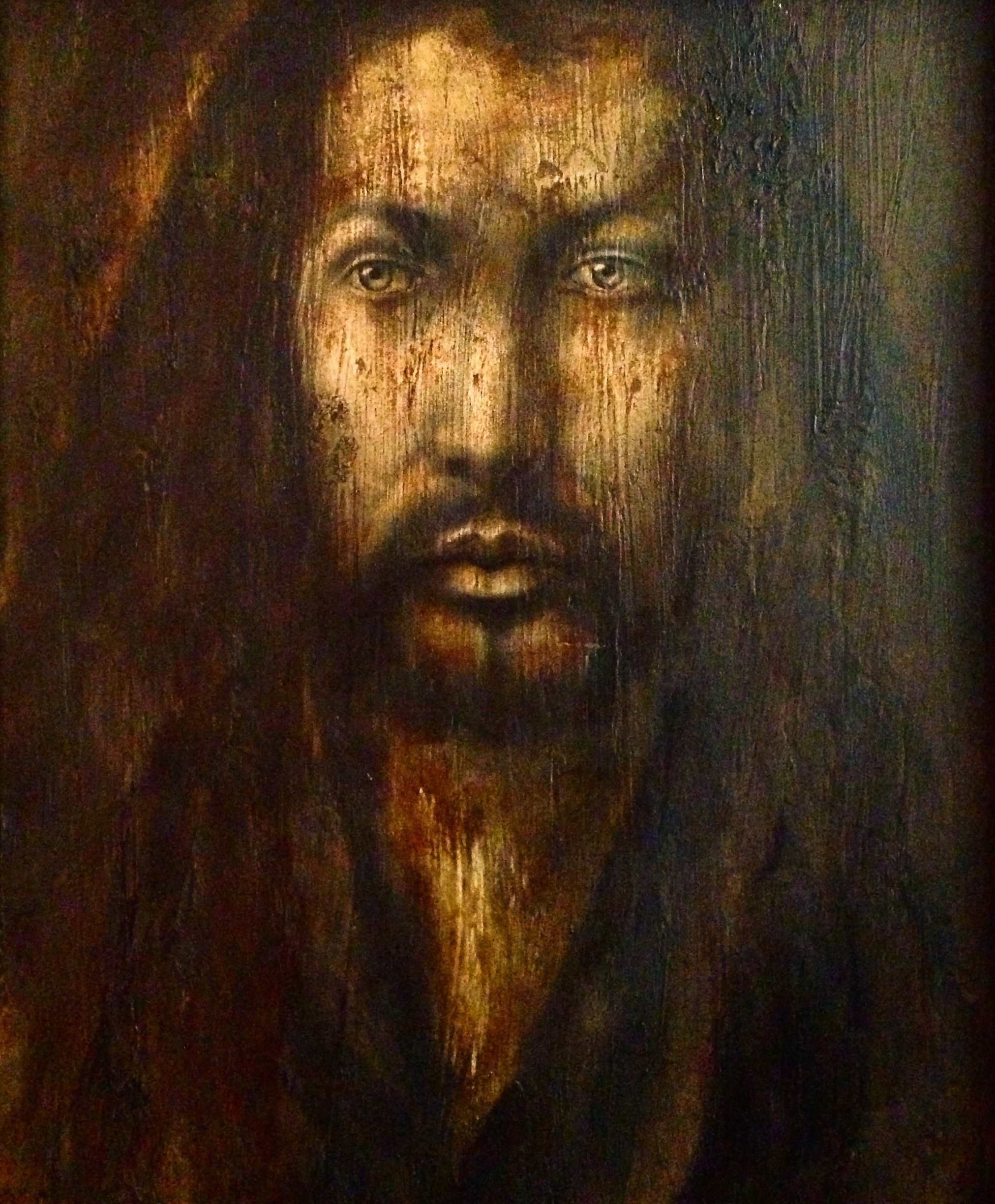Albrecht Dürer, 2016   Acrylic, texture medium on canvas