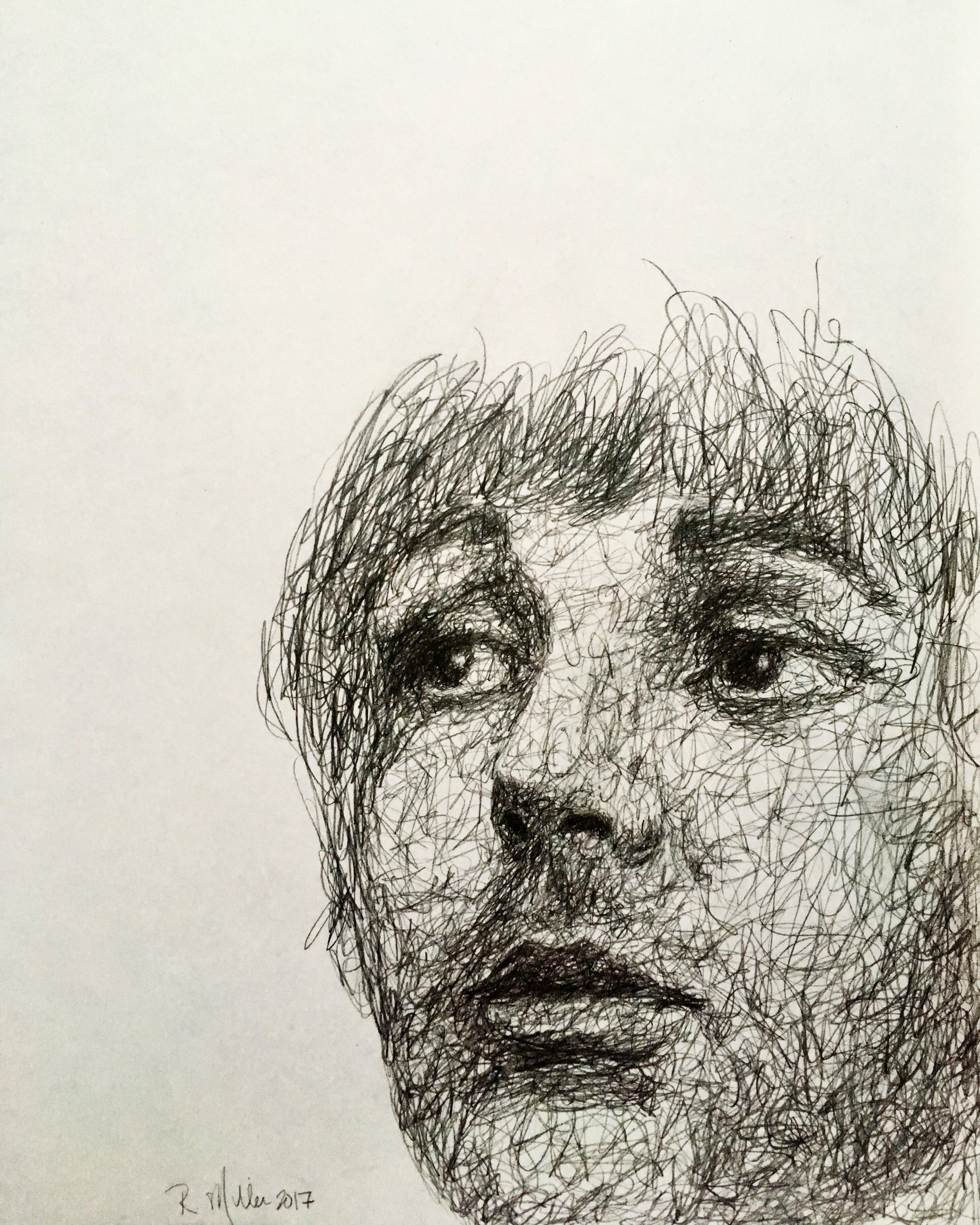 "Paul McCartney, 2017   #2 Pencil on paper 11""x 14"""