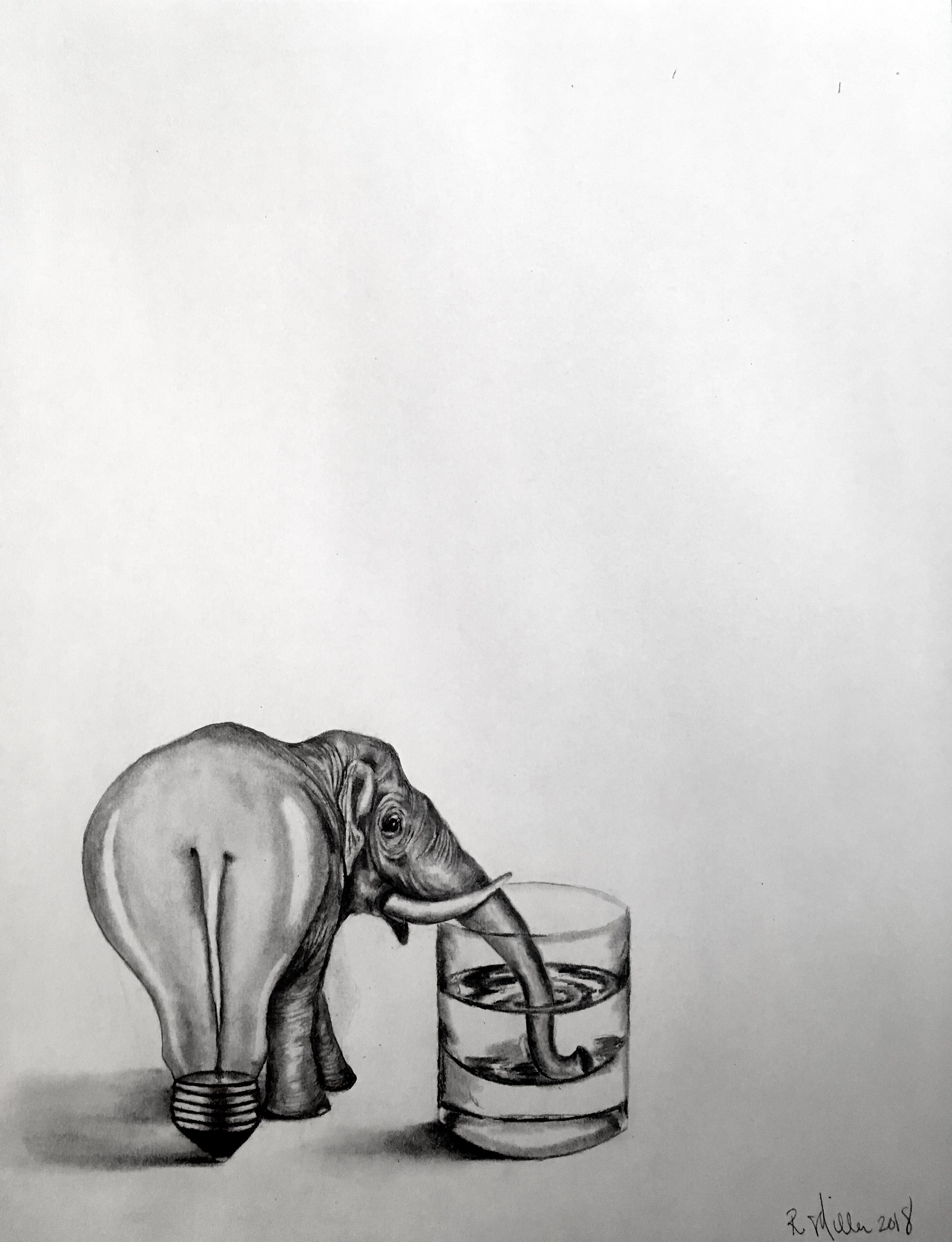 Hydrophant, 2018   #2 pencil on paper