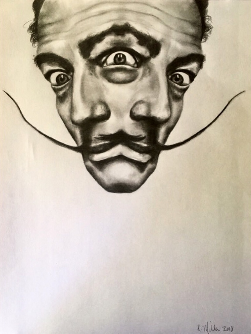 "Surreal Surrealist, 2018  #2 pencil on paper 11""x 14"""