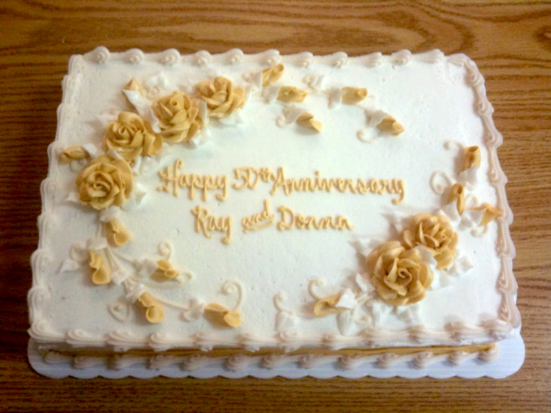 50th Anniversary Gold Roses