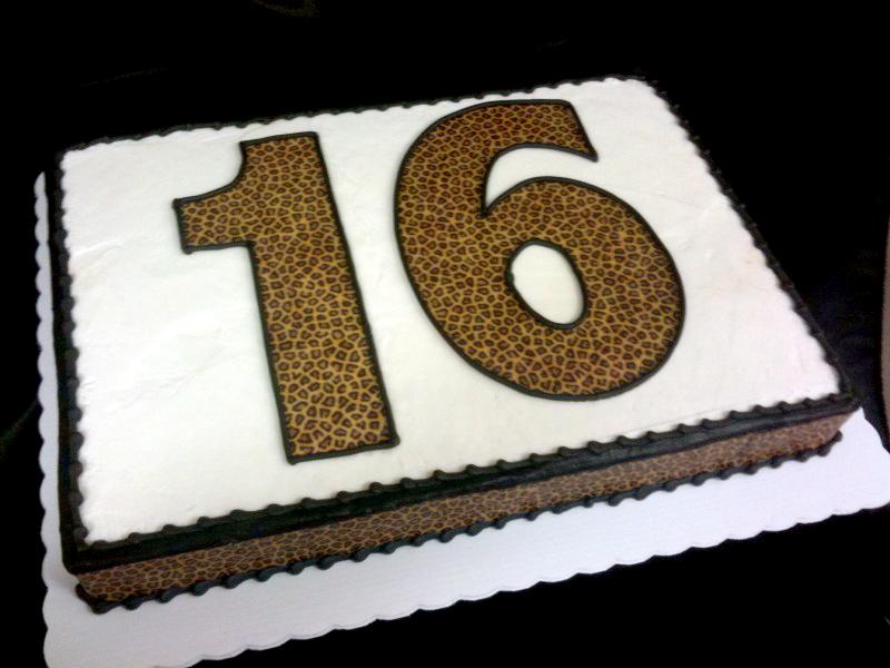Leopard Print Numbers