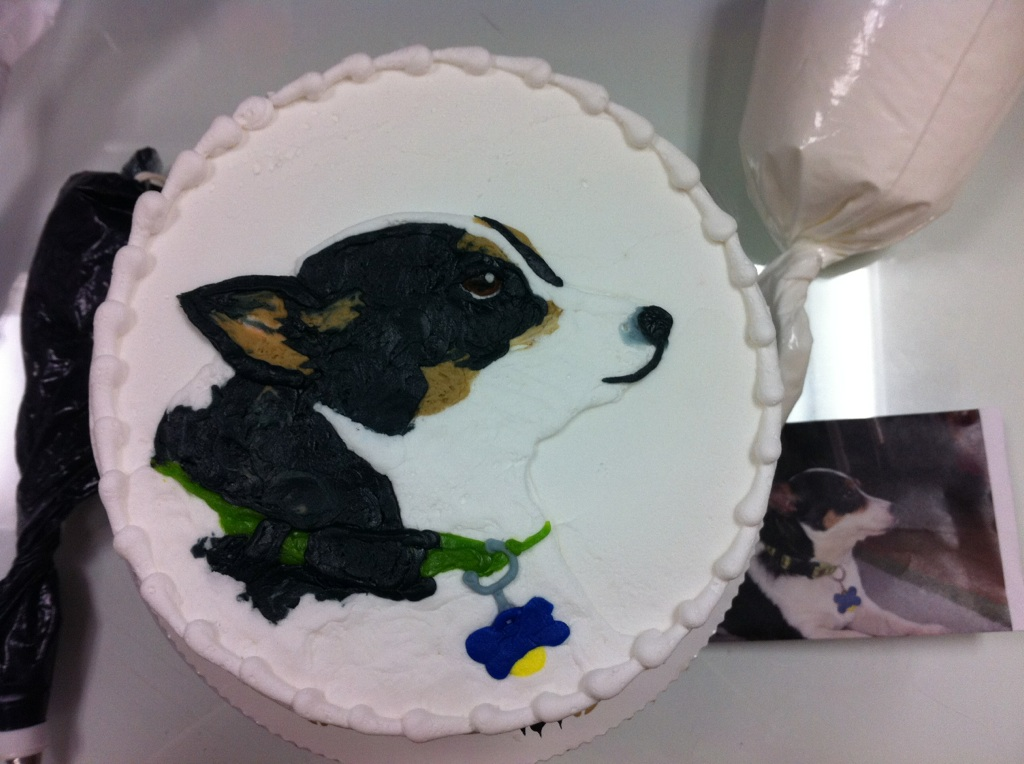 Dog Portrait out of Icing