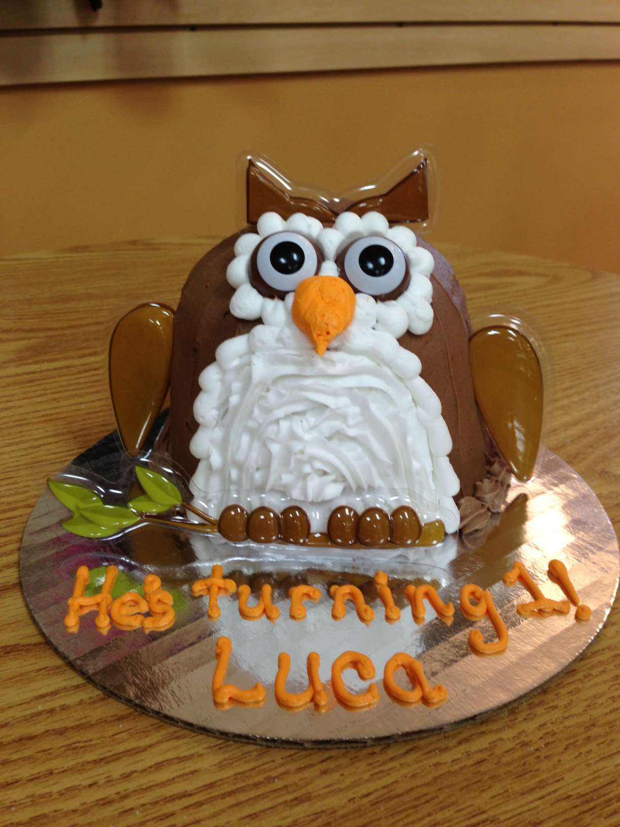 Owl Shaped Cake