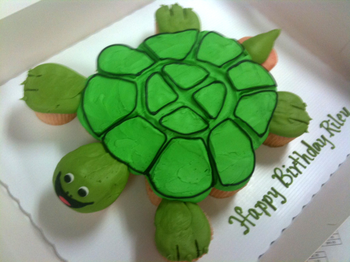 Turtle out of Cupcakes