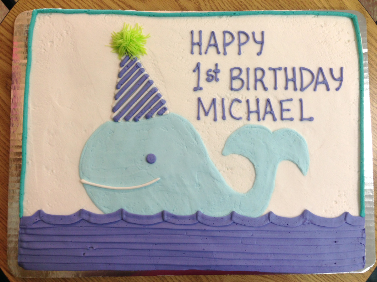 Whale with Birthday Hat