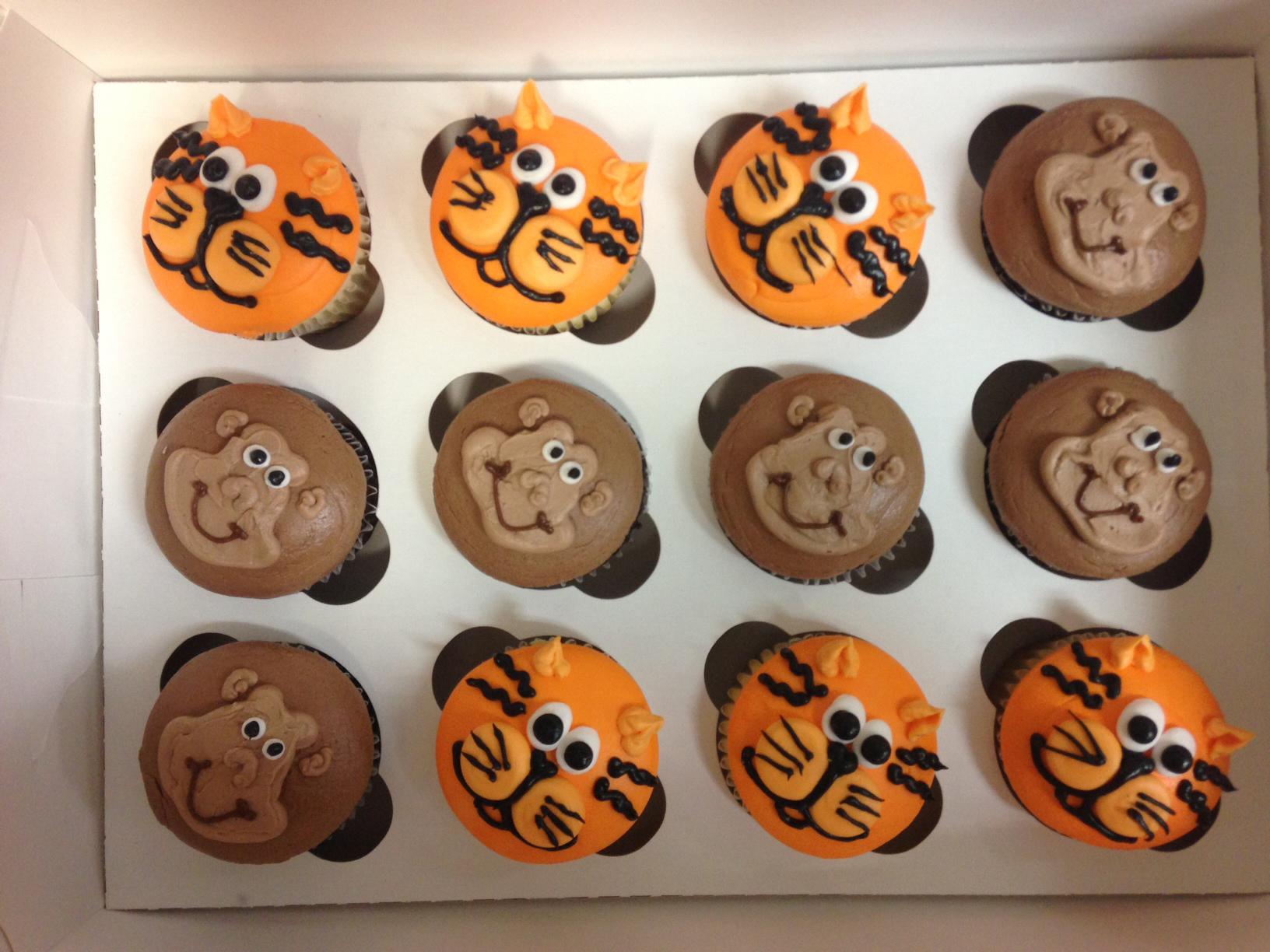 Tiger Cupcakes & Monkey Cupcakes