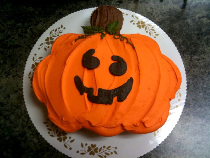 Pumpkin out of Cupcakes