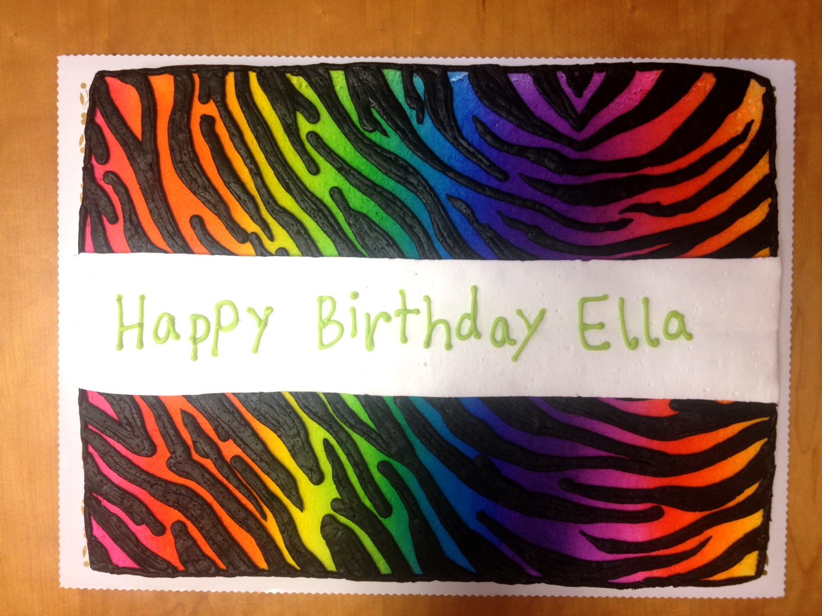 Rainbow Zebra Stripes