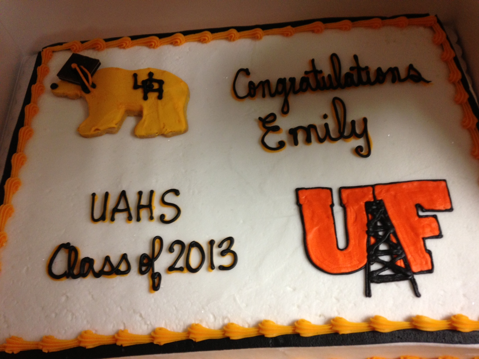 Grad Cookie & University Logo