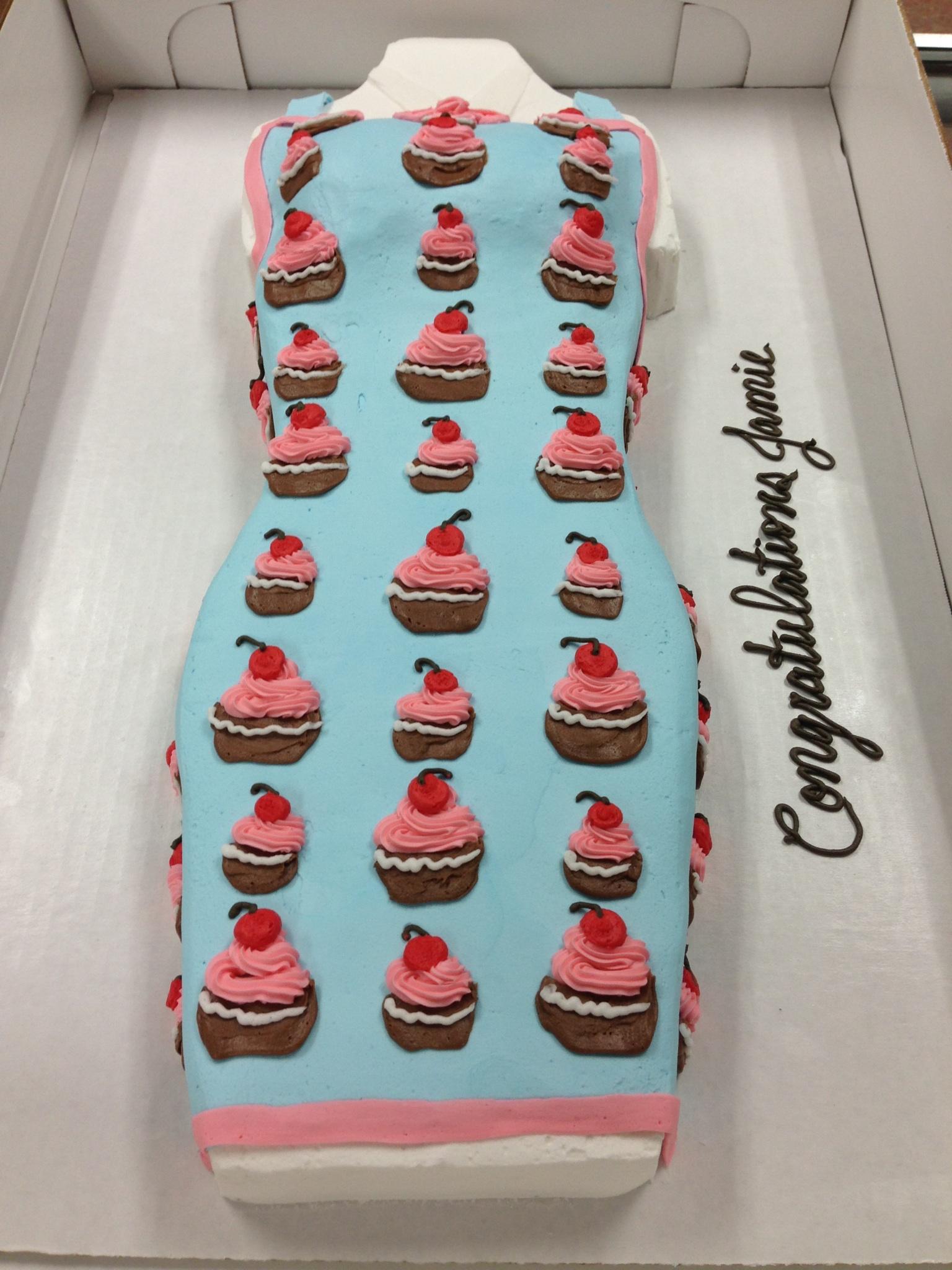 Apron Shaped Cake