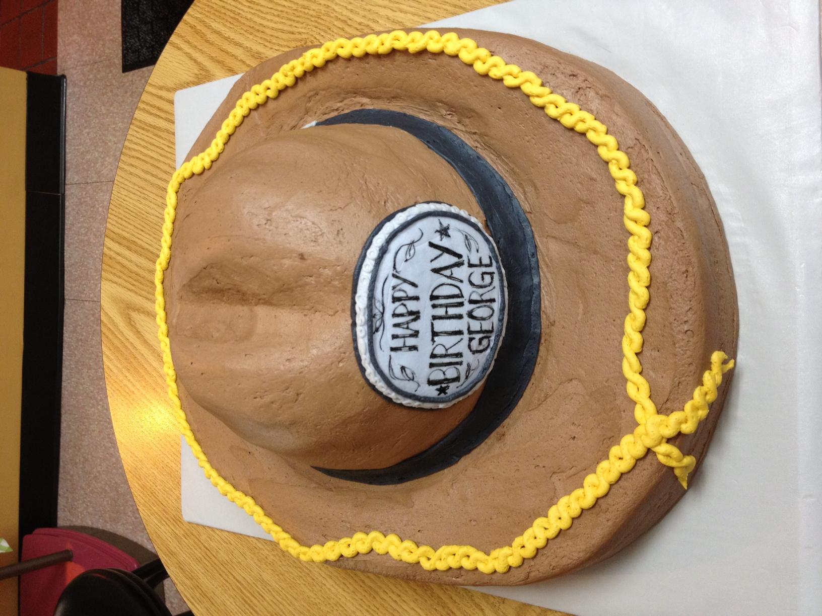 Cowboy Hat Shaped Cake