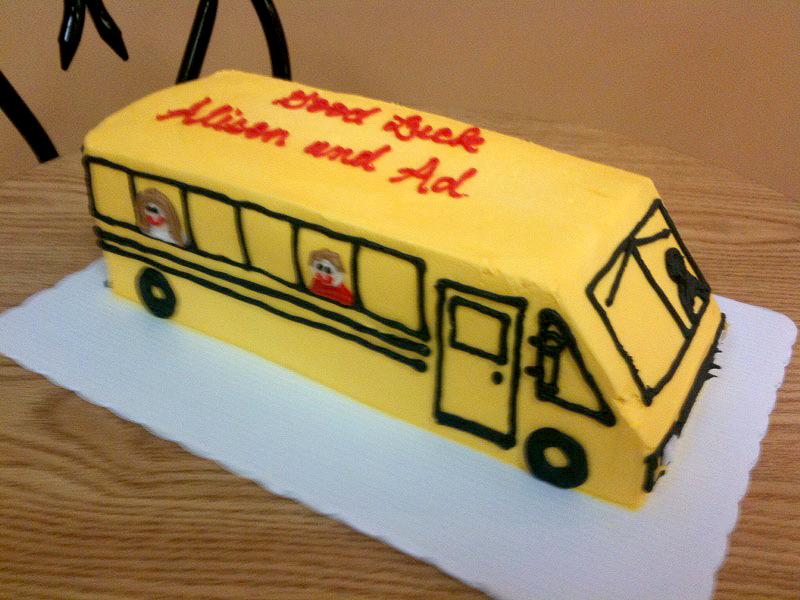 School Bus Shaped cake